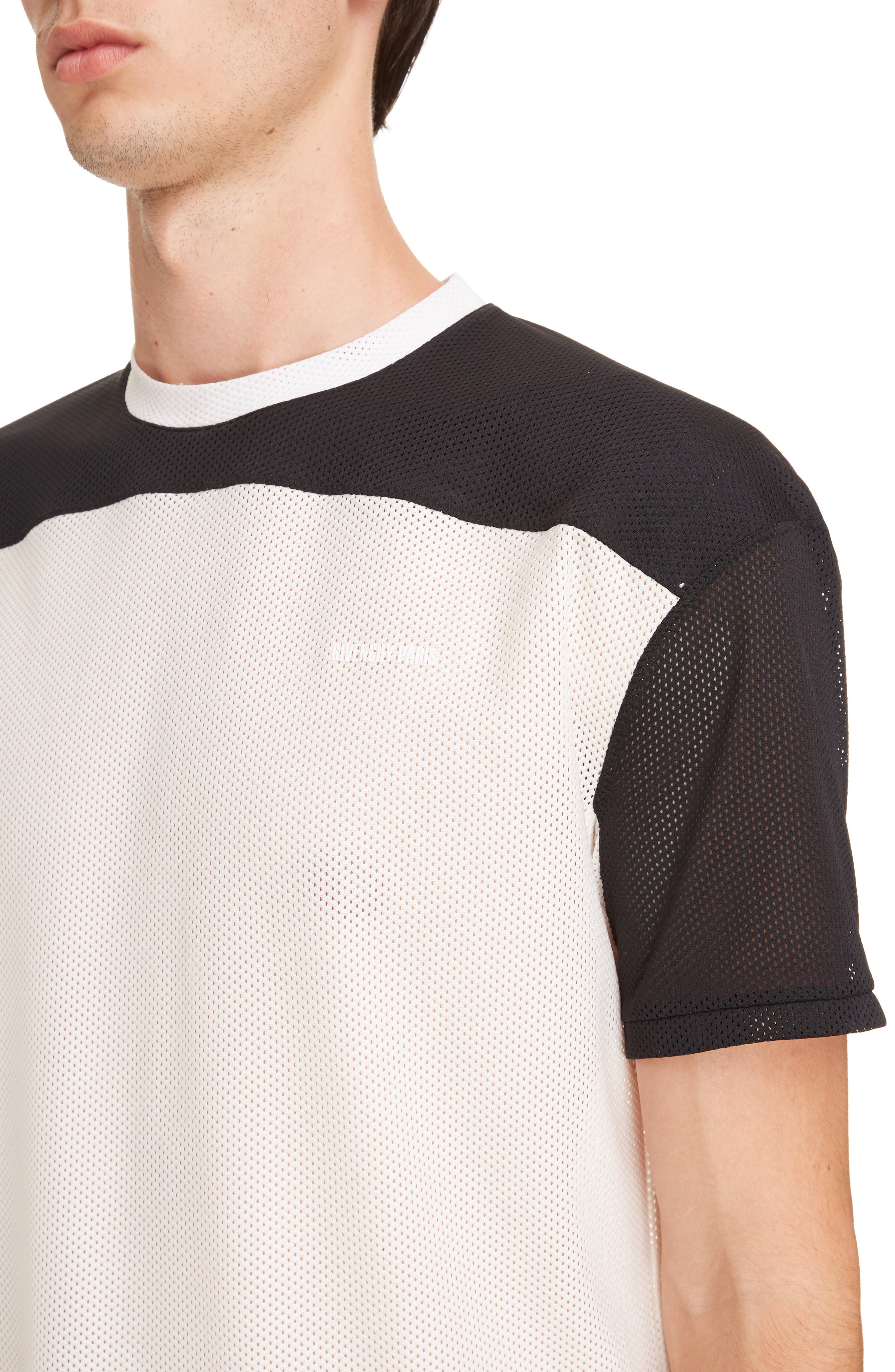 Colorblock Mesh T-Shirt,                             Alternate thumbnail 4, color,                             Ecru