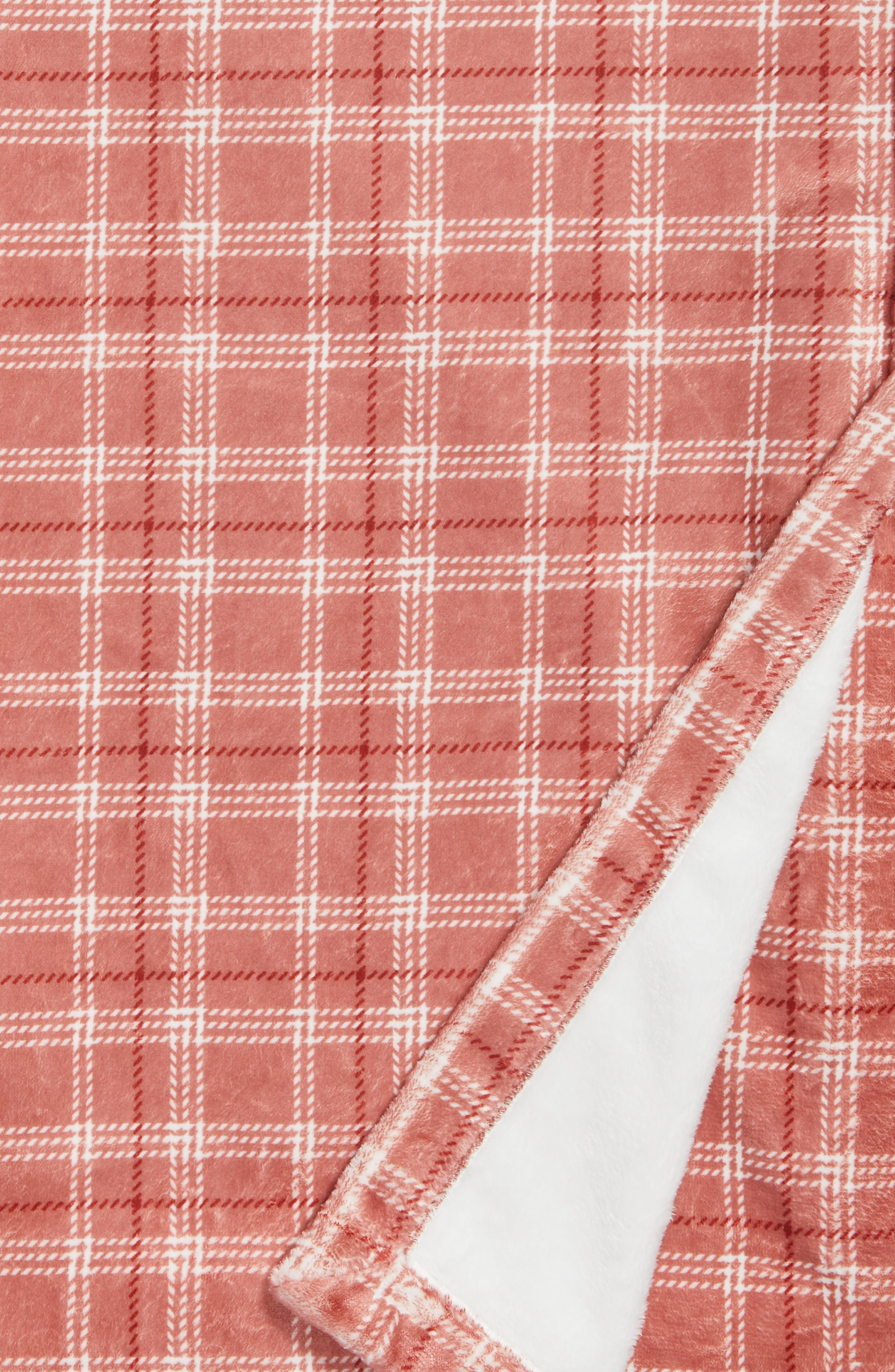 Plaid Throw,                             Alternate thumbnail 2, color,                             Brick Red