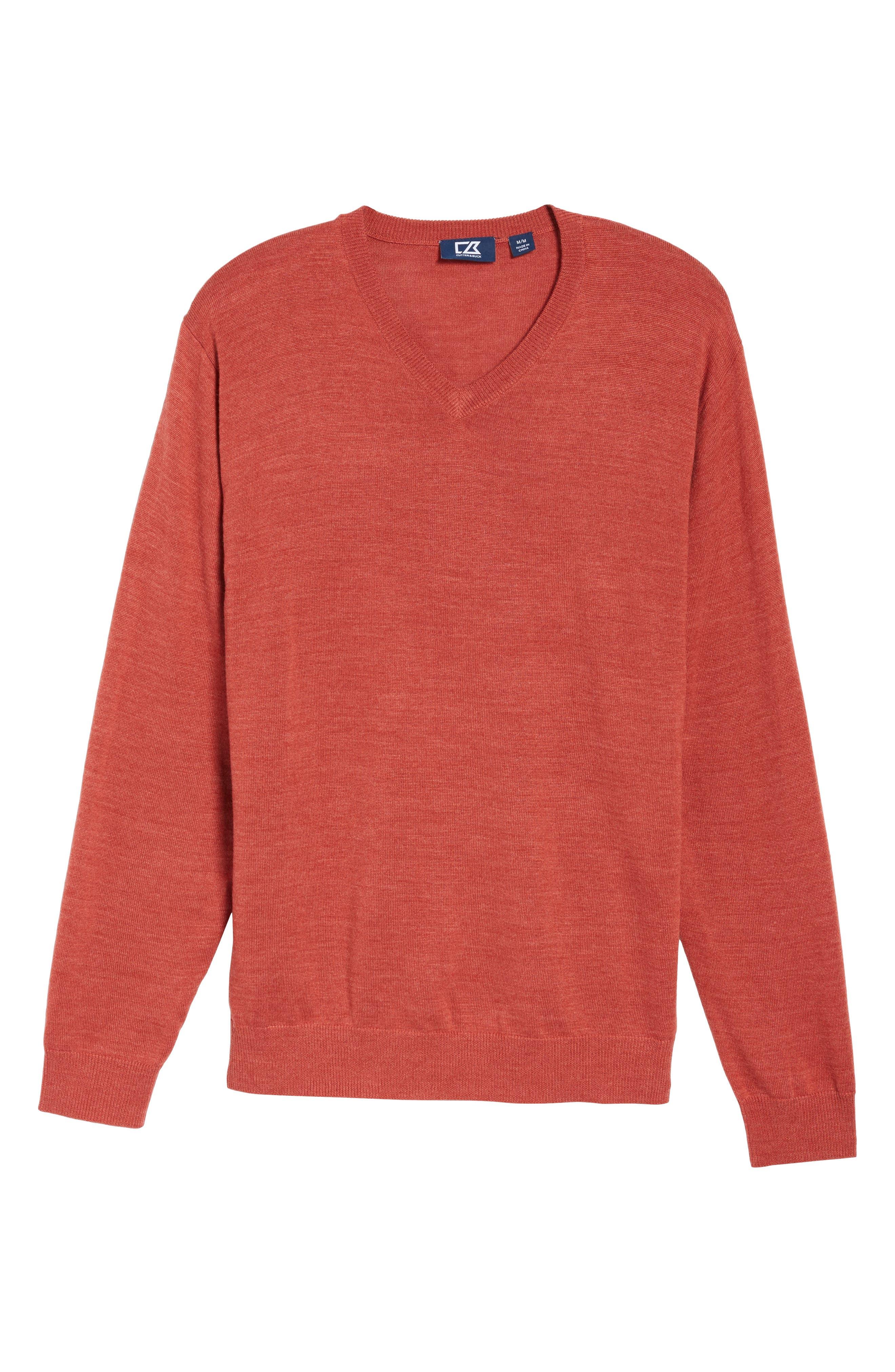 Alternate Image 6  - Cutter & Buck 'Douglas' Merino Wool Blend V-Neck Sweater (Online Only)