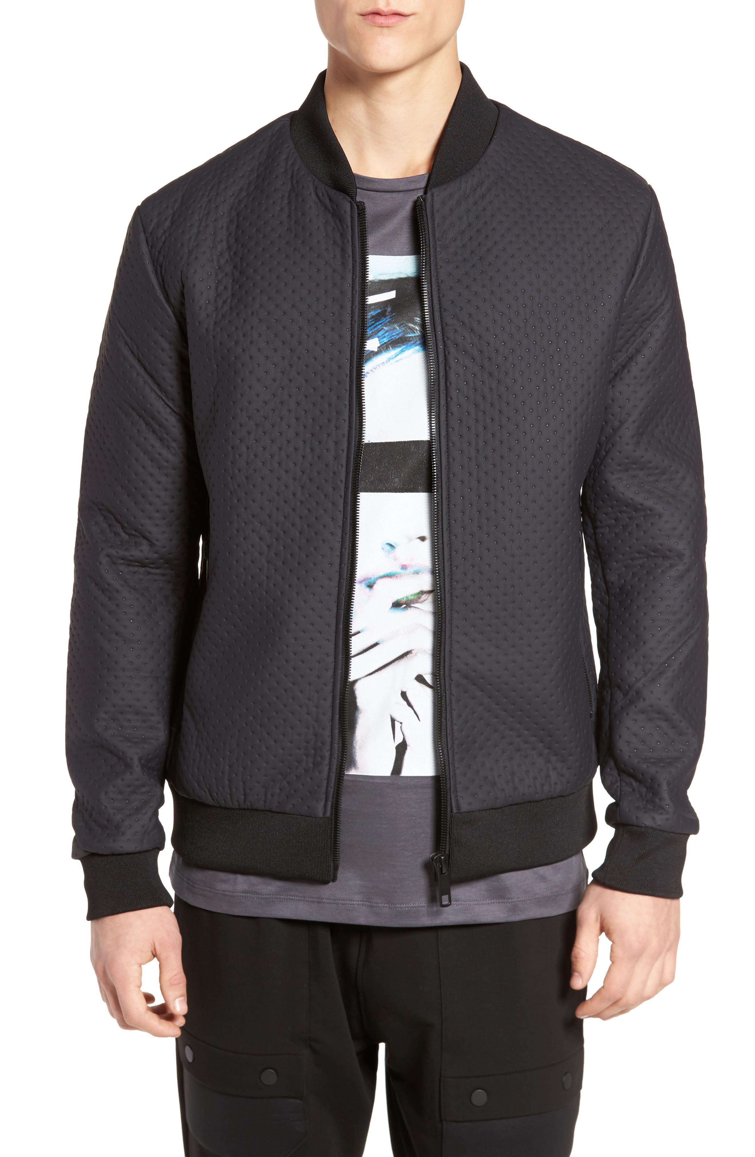 Faux Leather Jacket,                         Main,                         color, Loud Blue