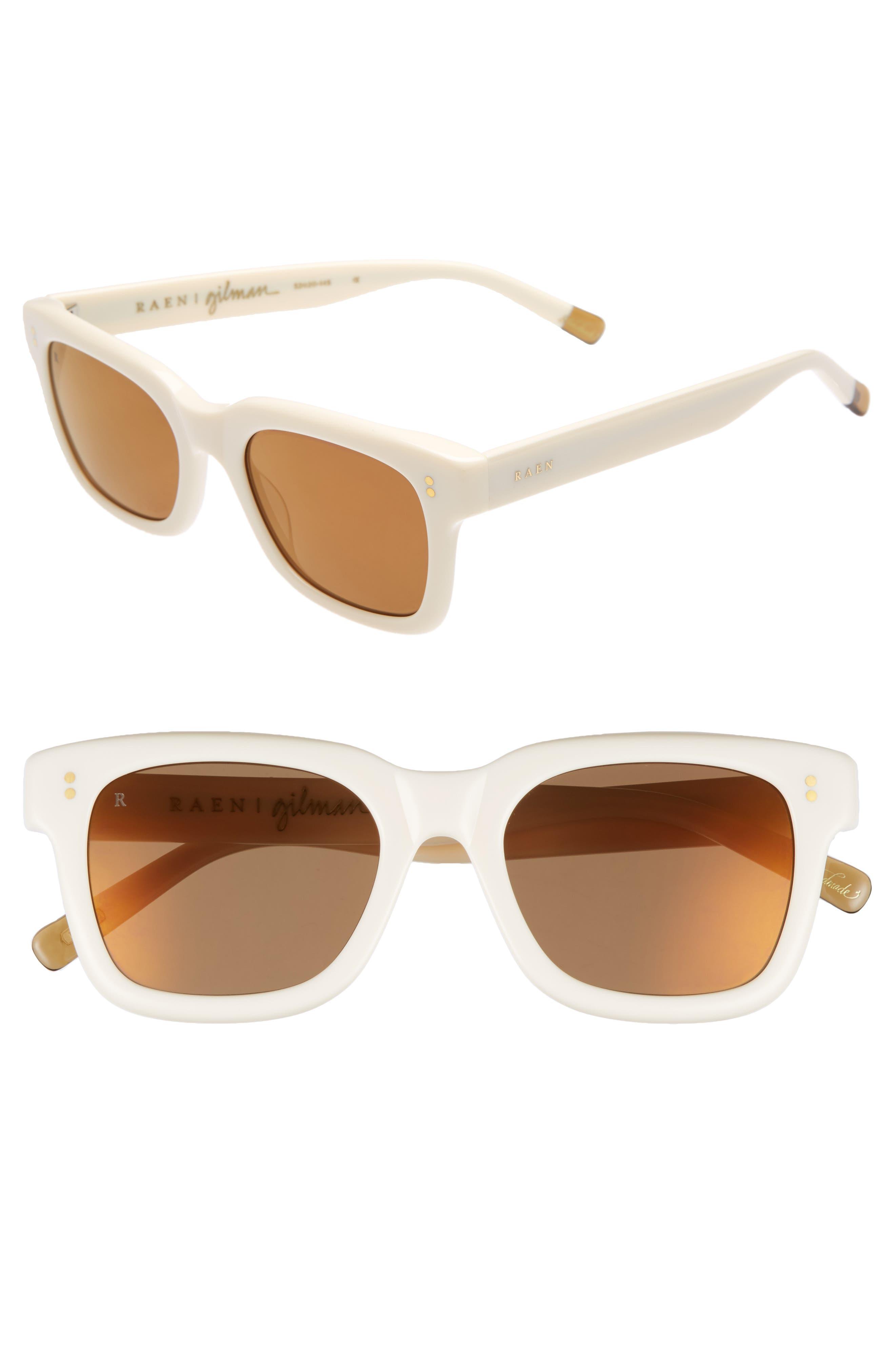 Gilman 52mm Mirrored Polarized Sunglasses,                         Main,                         color, Rose/ Brown Silver Mirror