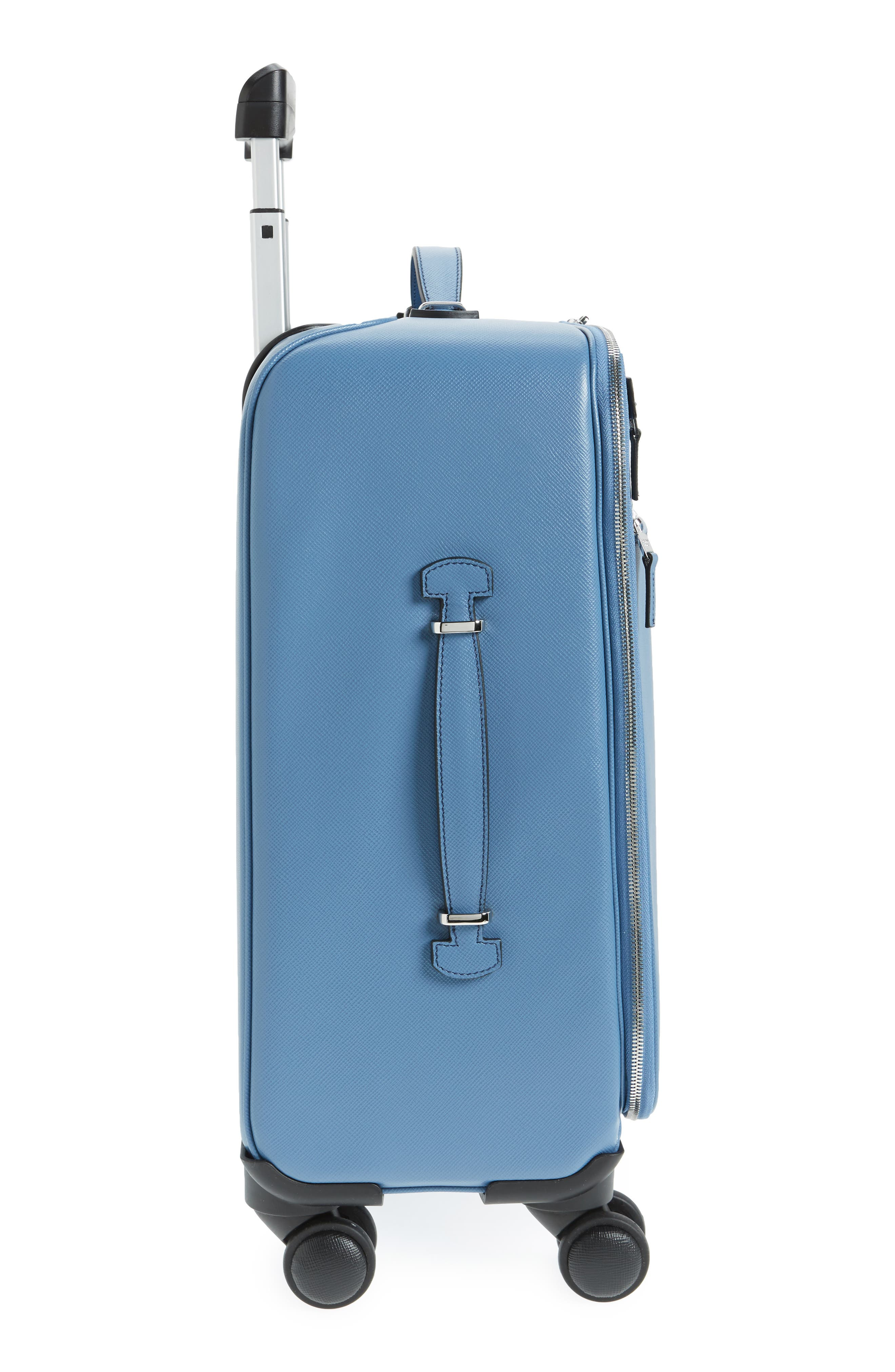 Trolley Spinner Wheeled Carry-On Suitcase,                             Alternate thumbnail 3, color,                             Blue Jeans