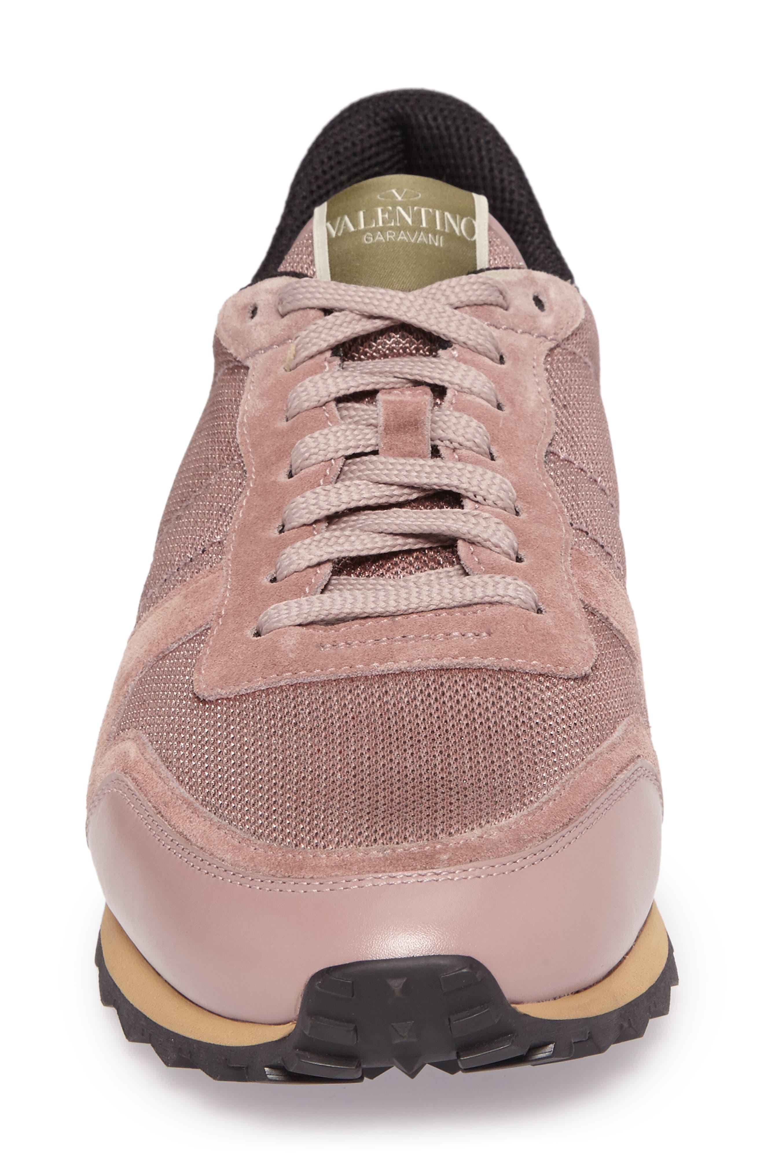 Nylon Rockrunner Sneaker,                             Alternate thumbnail 4, color,                             Lipstick