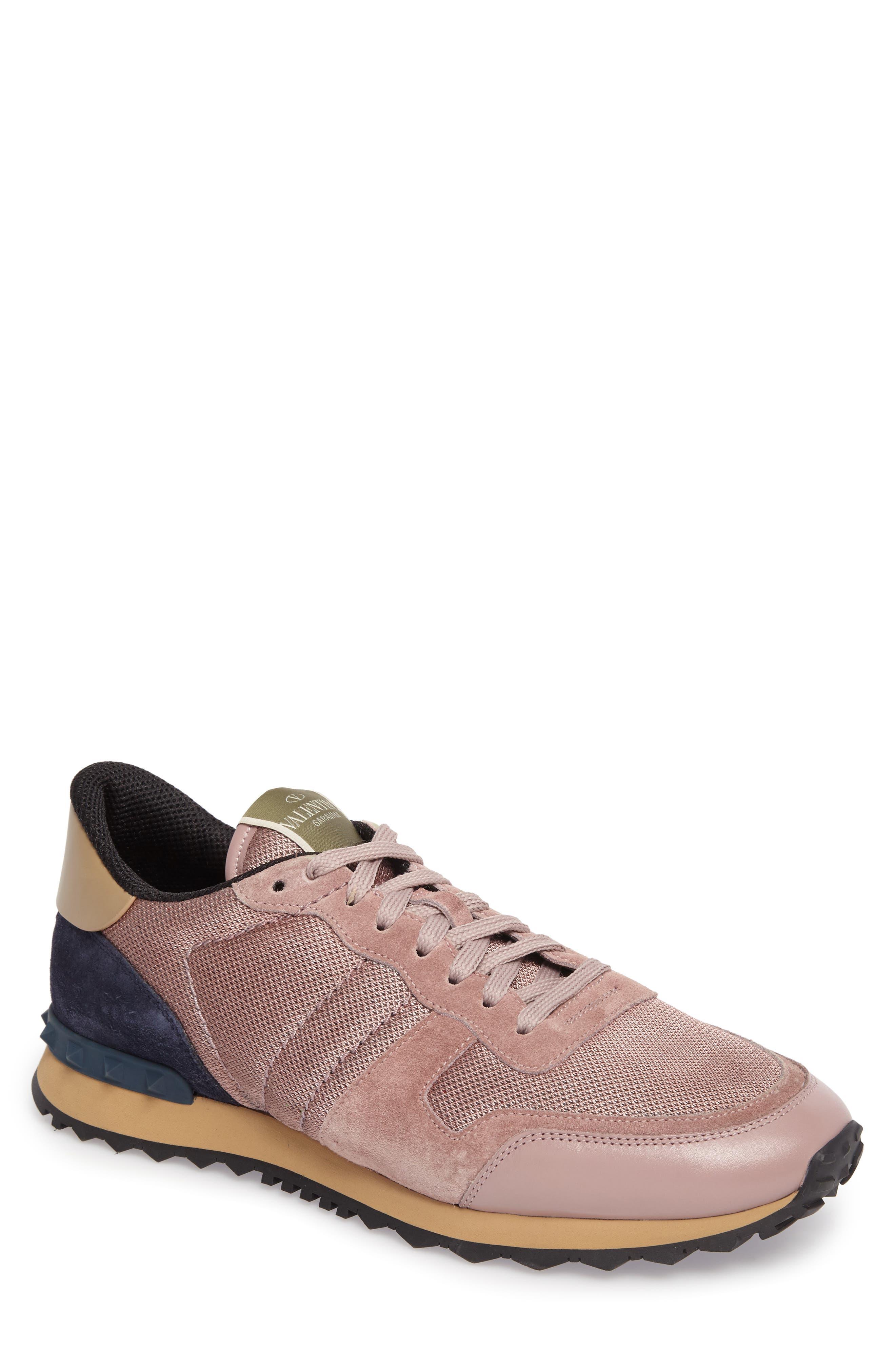 Nylon Rockrunner Sneaker,                         Main,                         color, Lipstick