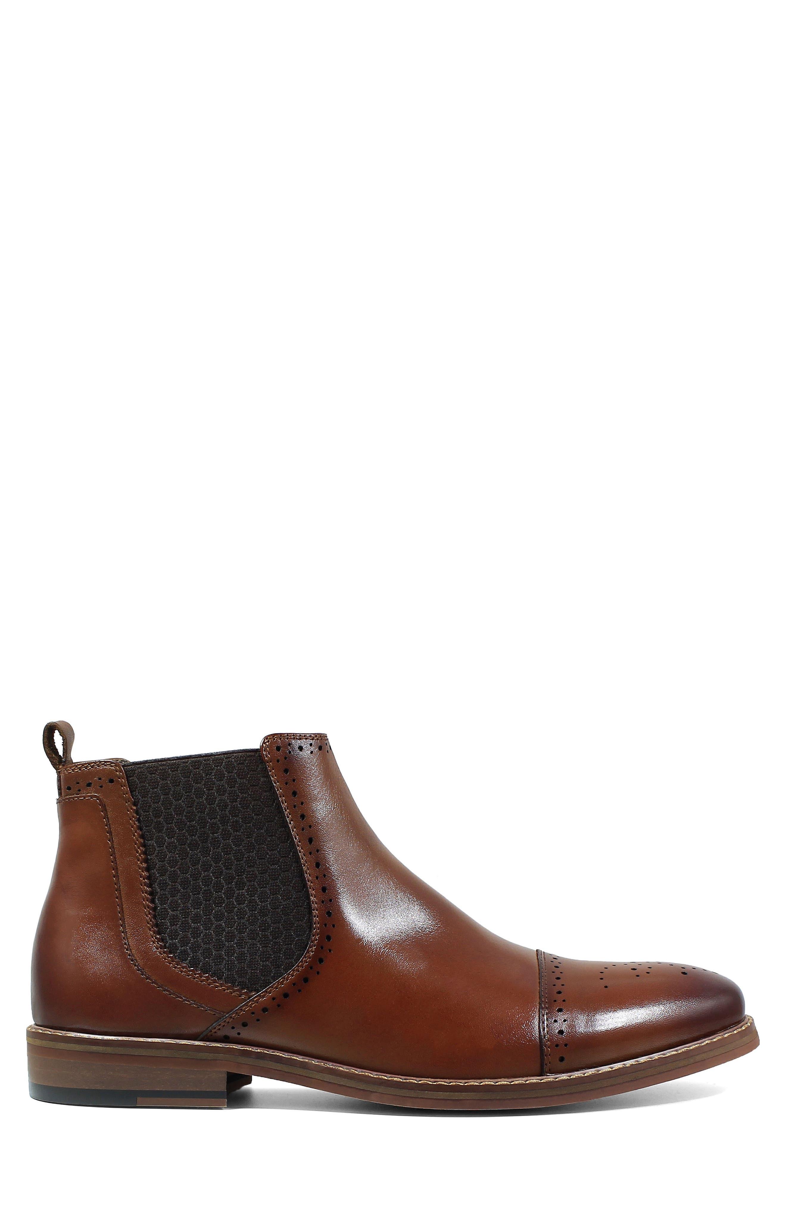 Alomar Chelsea Boot,                             Alternate thumbnail 3, color,                             Cognac Leather