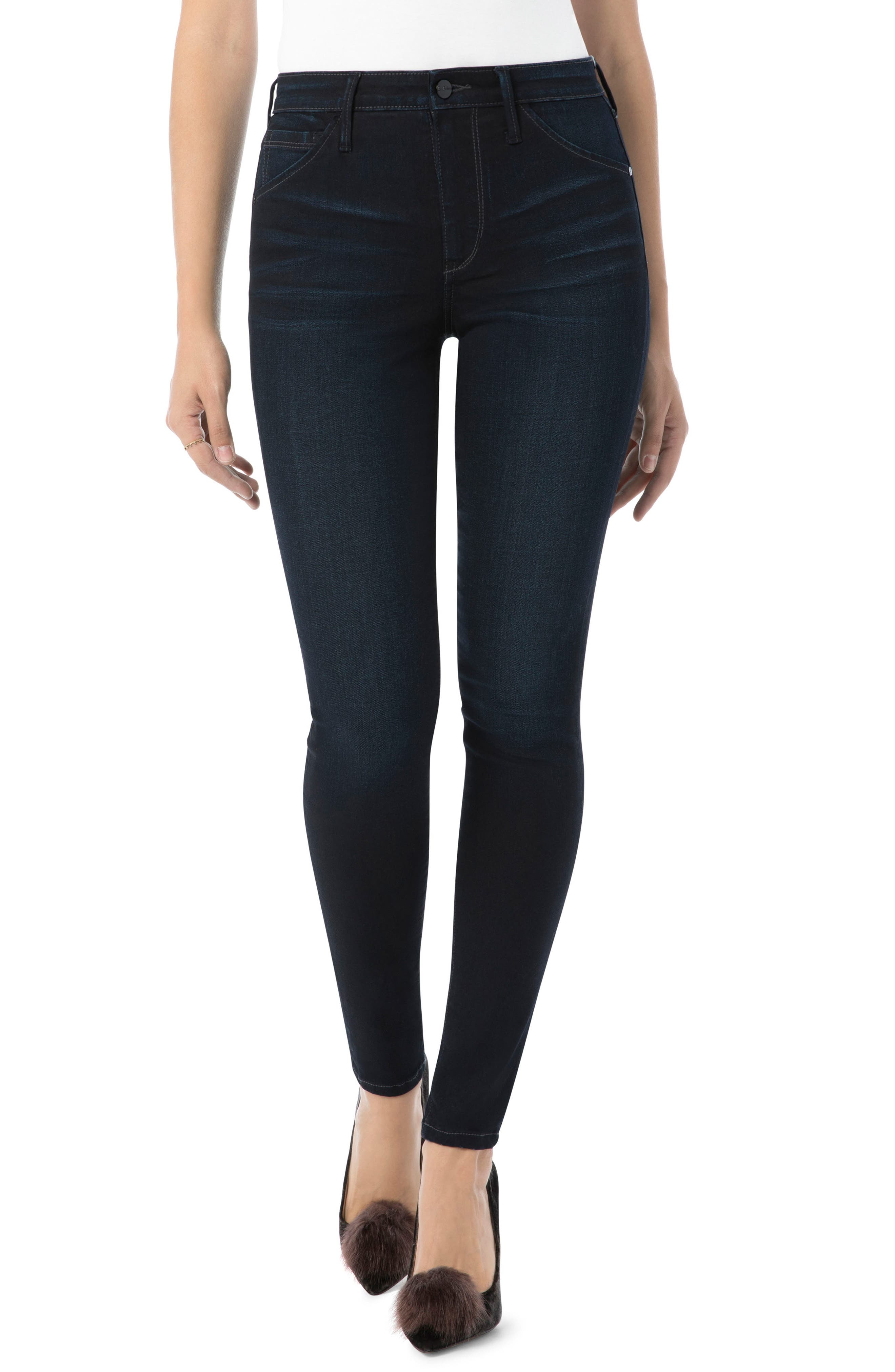 Stiletto High Rise Skinny Jeans,                             Main thumbnail 1, color,                             Bronwyn