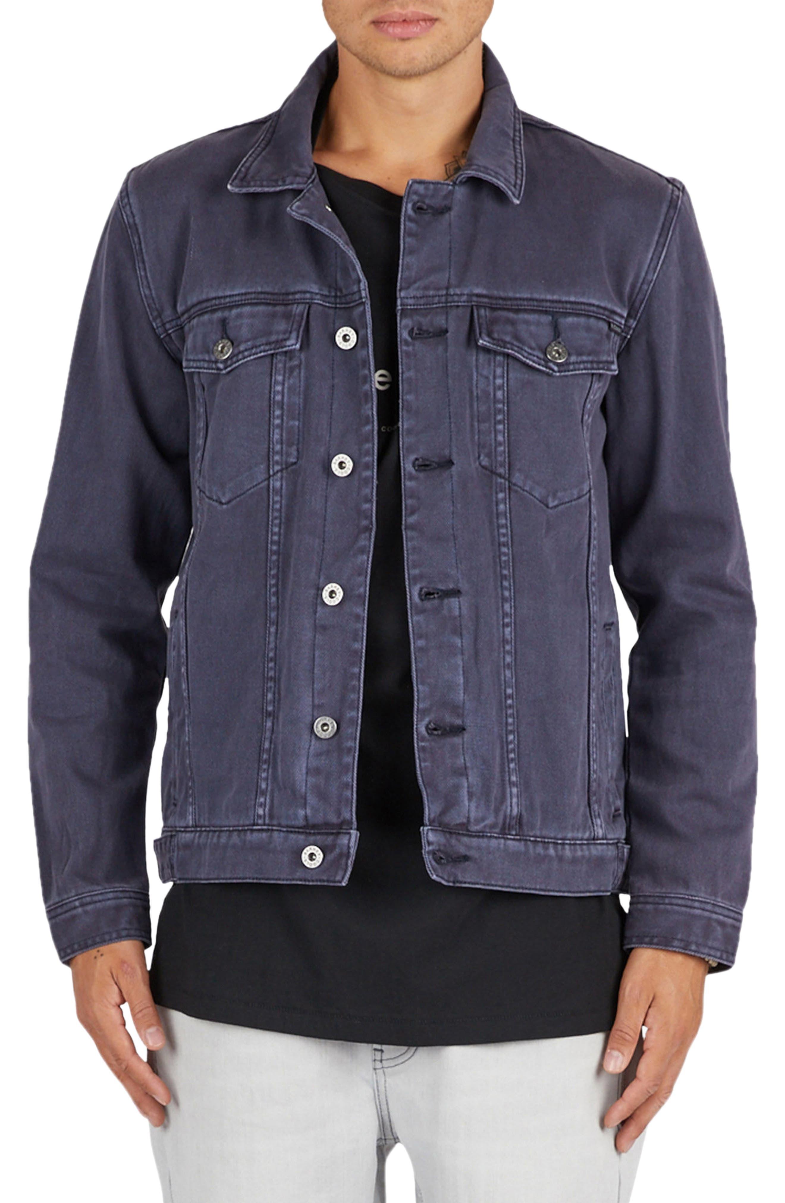 B. Rigid Jean Jacket,                         Main,                         color, Cold Navy