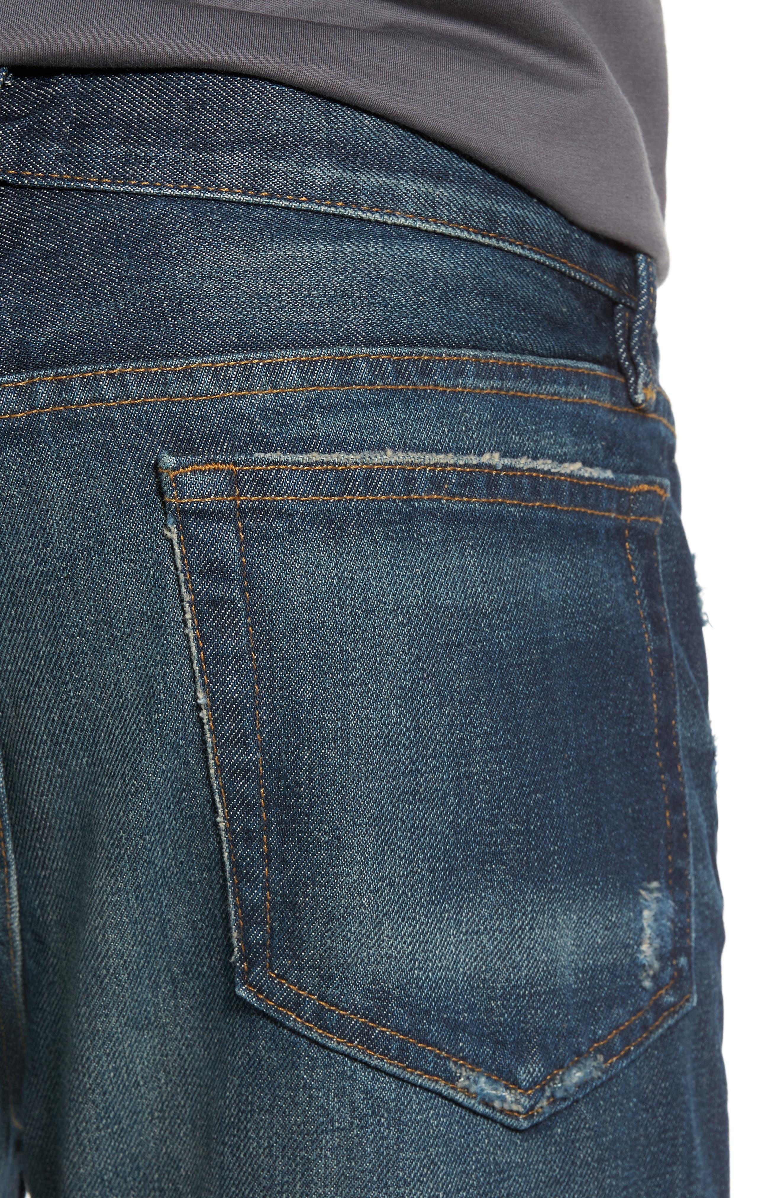 Alternate Image 4  - FRAME L'Homme Slim Fit Jeans (Bunker)
