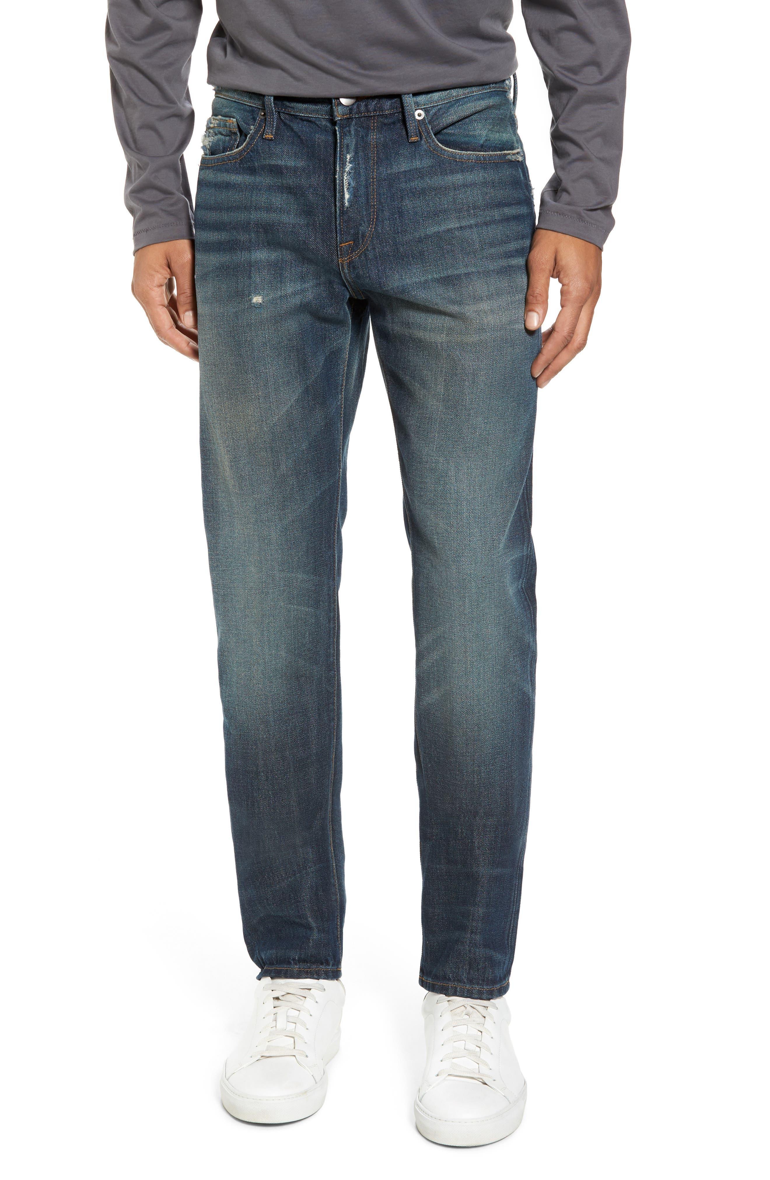 Main Image - FRAME L'Homme Slim Fit Jeans (Bunker)
