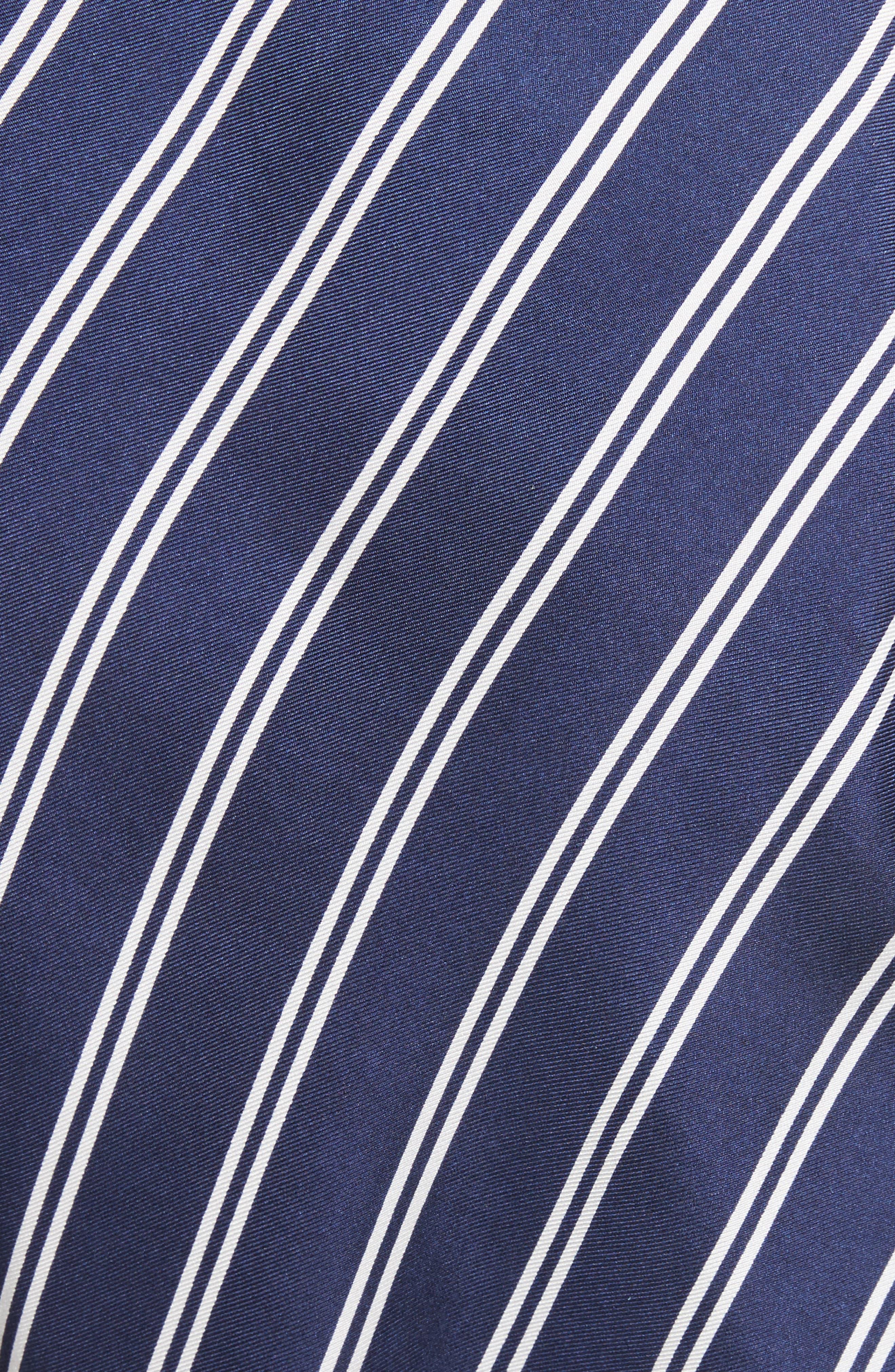 Adelpha Stripe Silk Skirt,                             Alternate thumbnail 5, color,                             Dark Navy