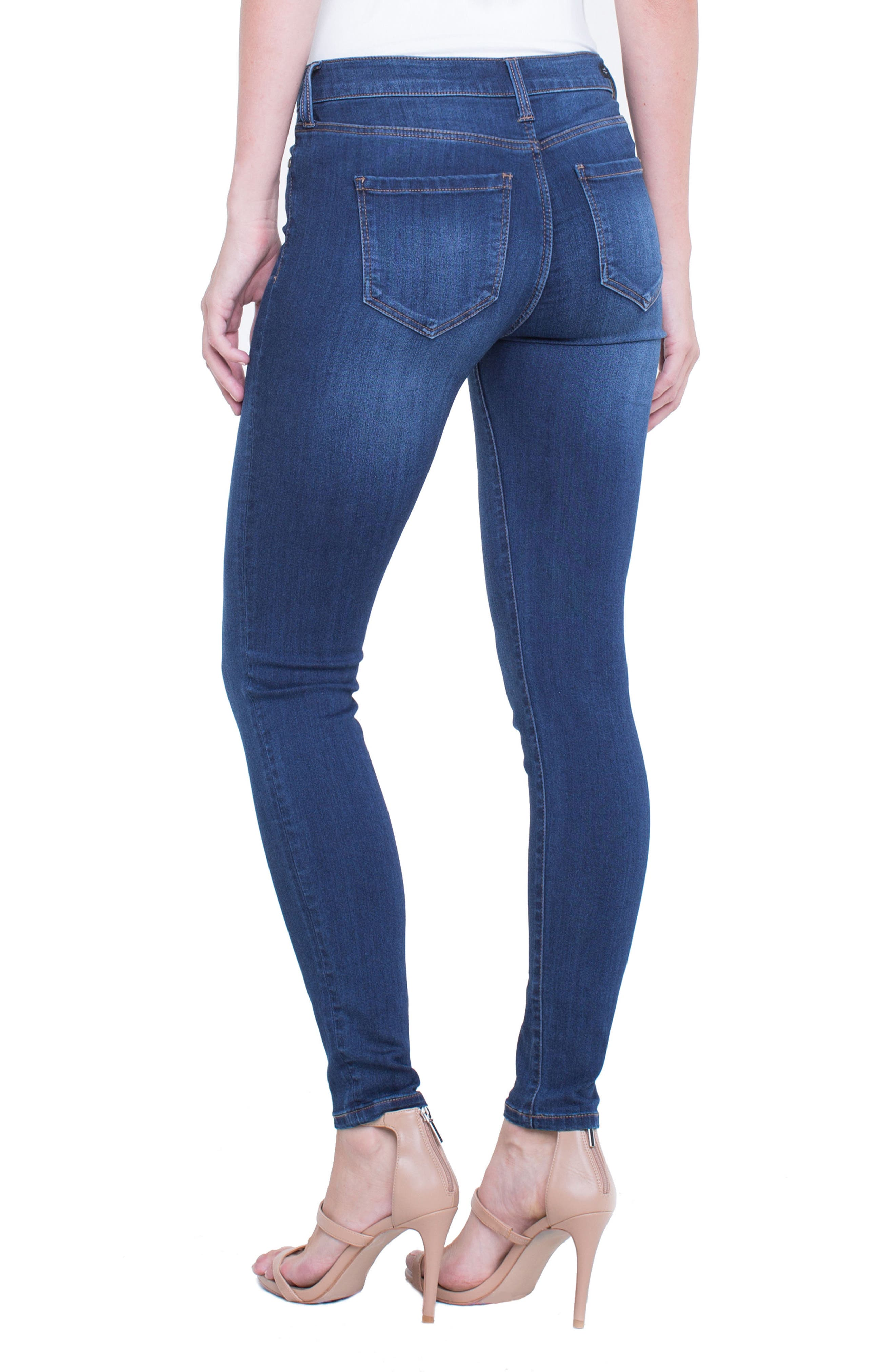 Abby Skinny Jeans,                             Alternate thumbnail 2, color,                             San Andreas Dark