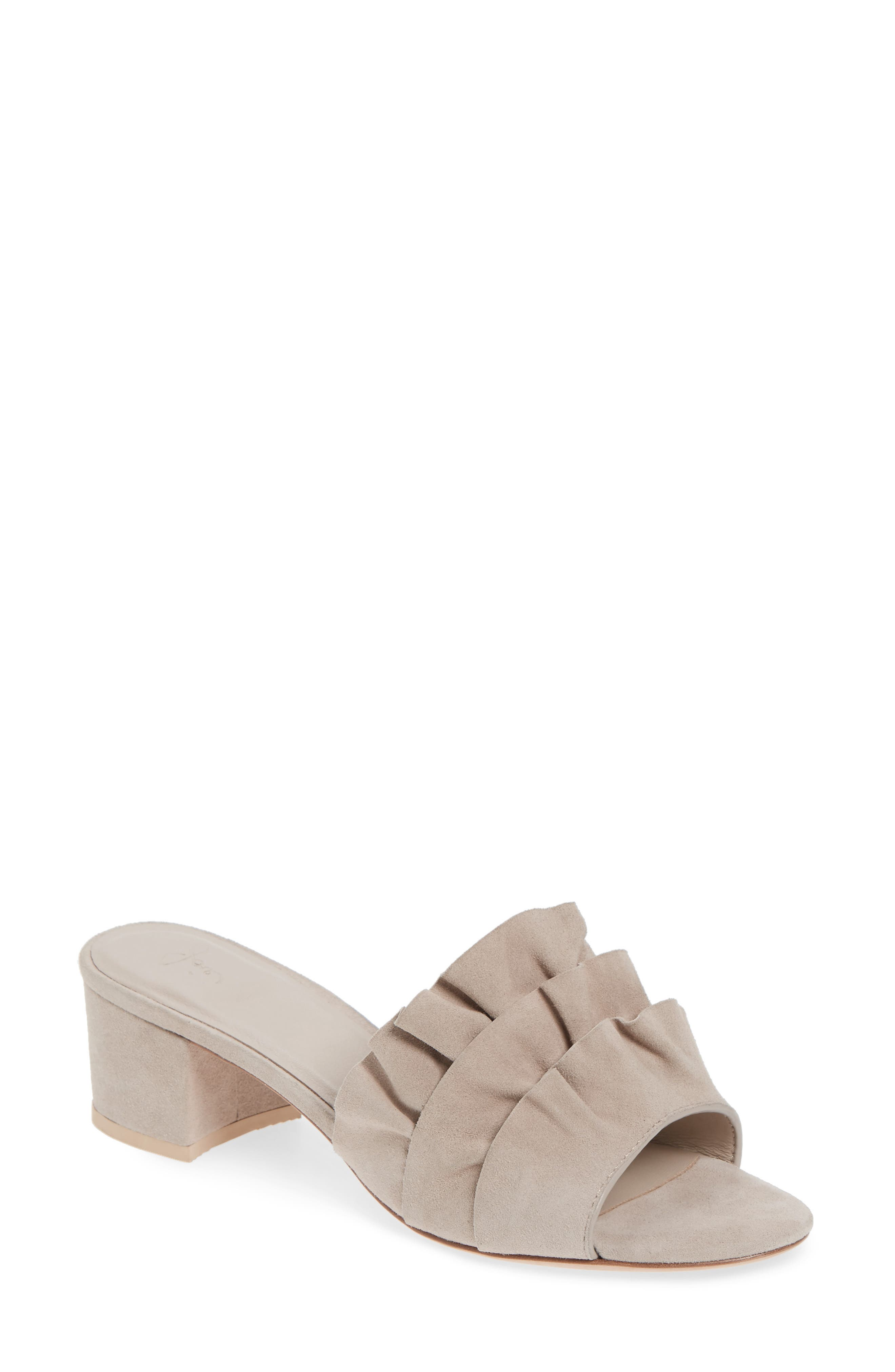 Joie Mai Ruffle Slide Sandal (Women)