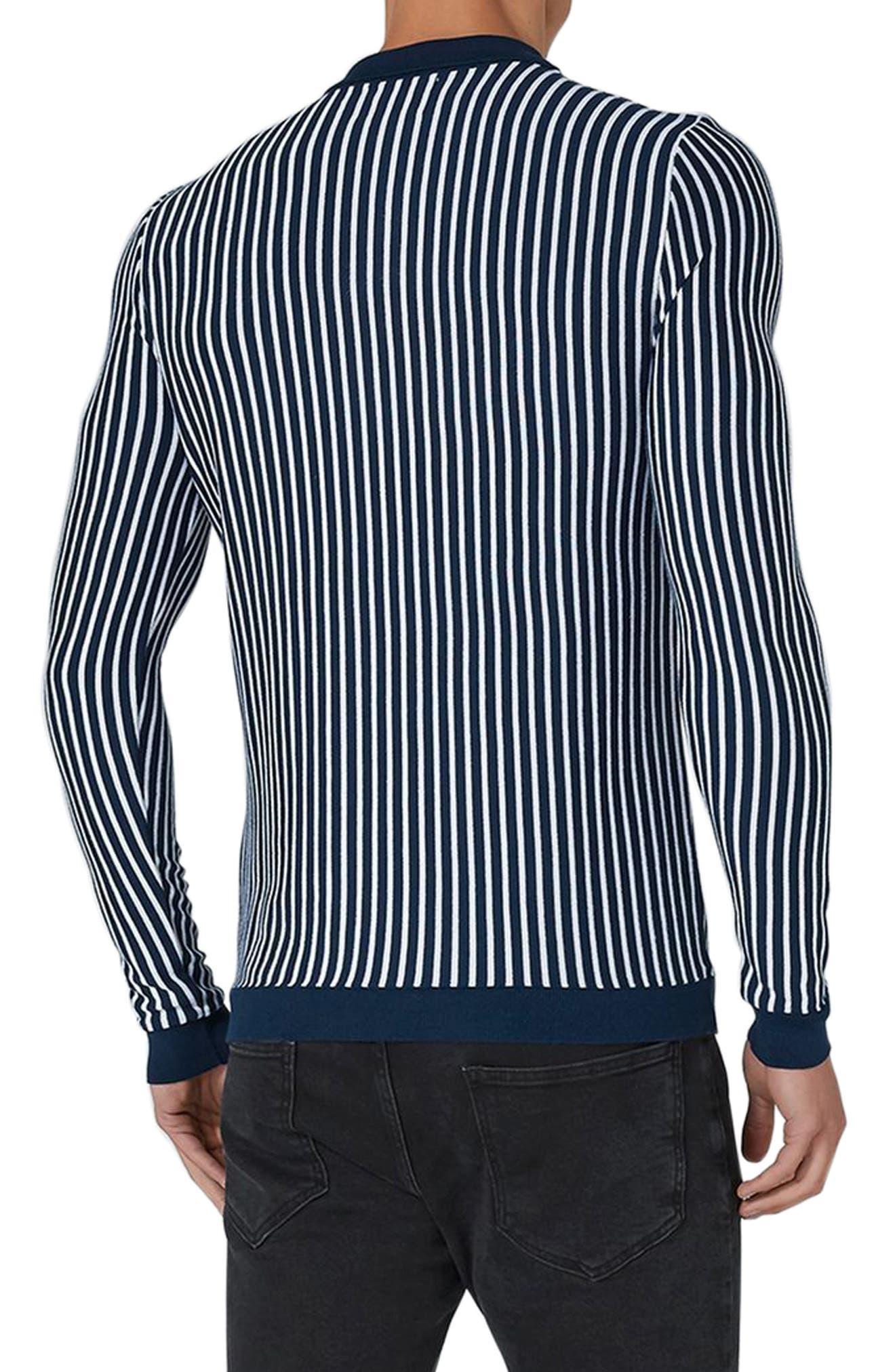 Alternate Image 2  - Topman Stripe Knit Polo Sweater