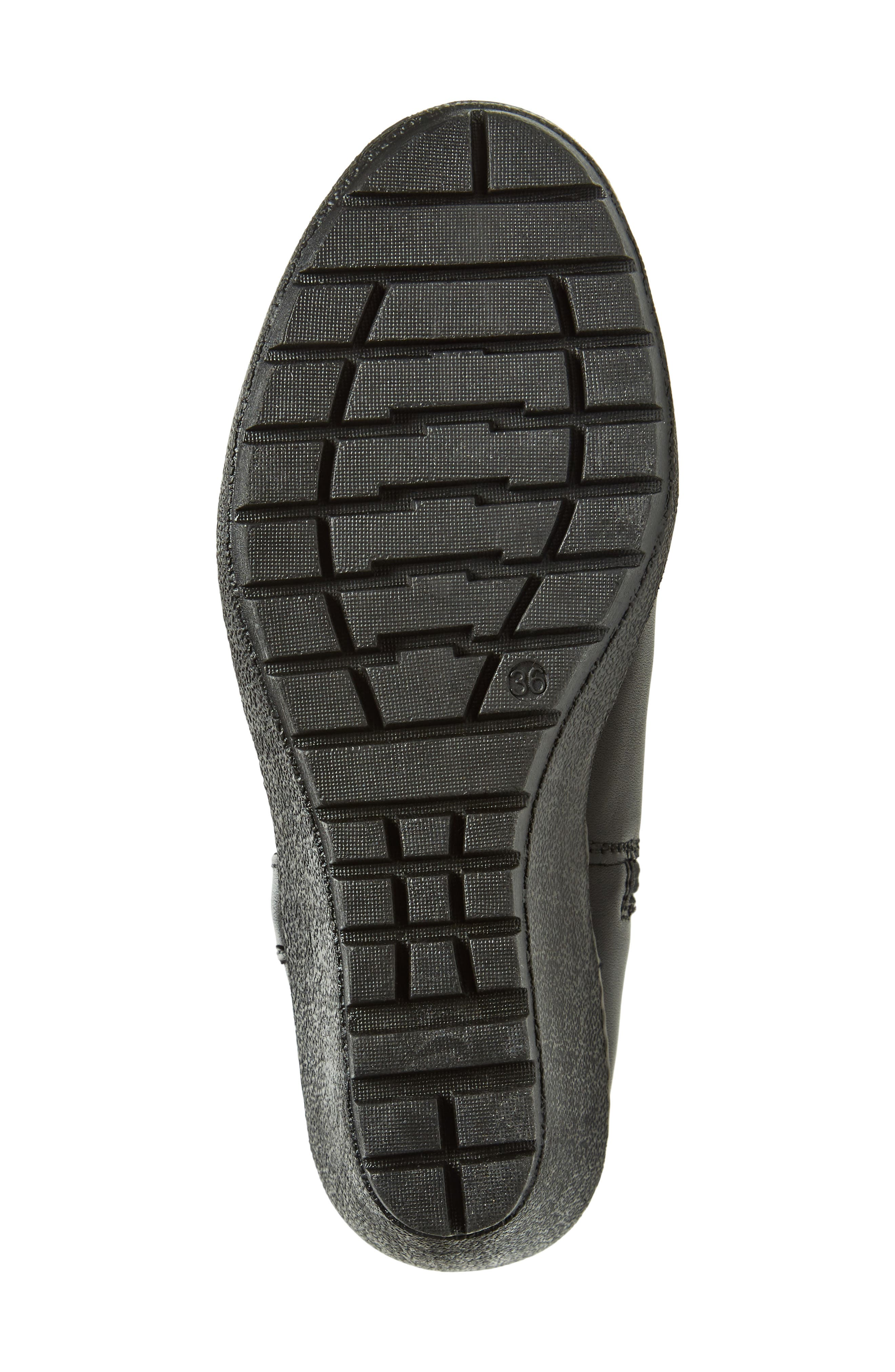 Bethany Water Resistant Boot,                             Alternate thumbnail 6, color,                             Black Leather