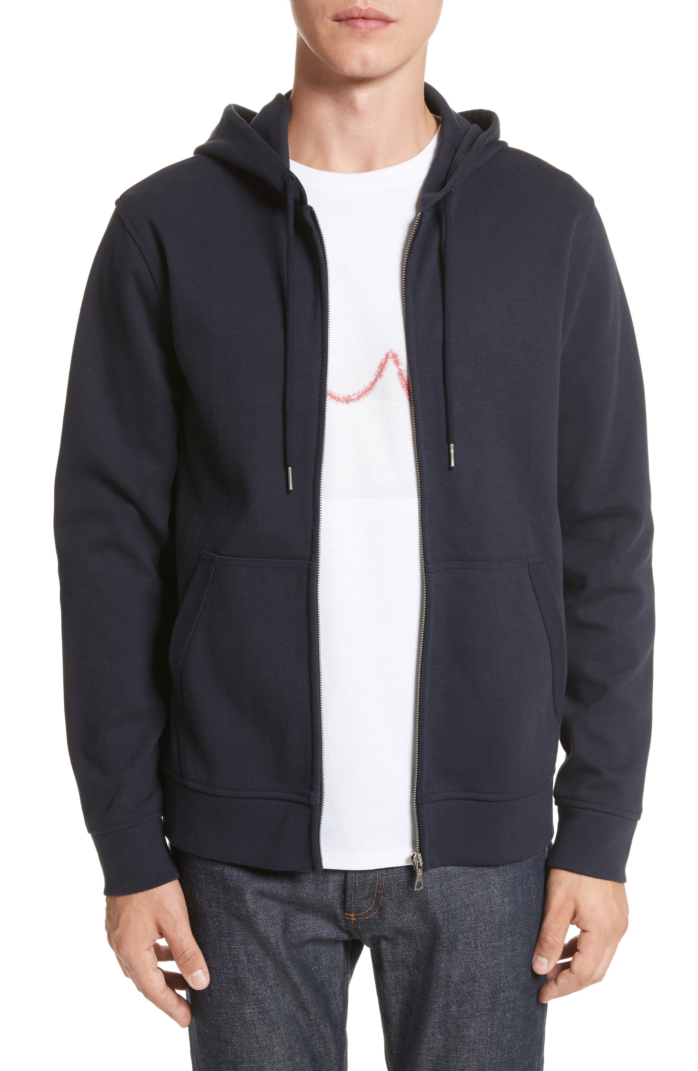 Alternate Image 1 Selected - A.P.C. Roadie Zip Hoodie
