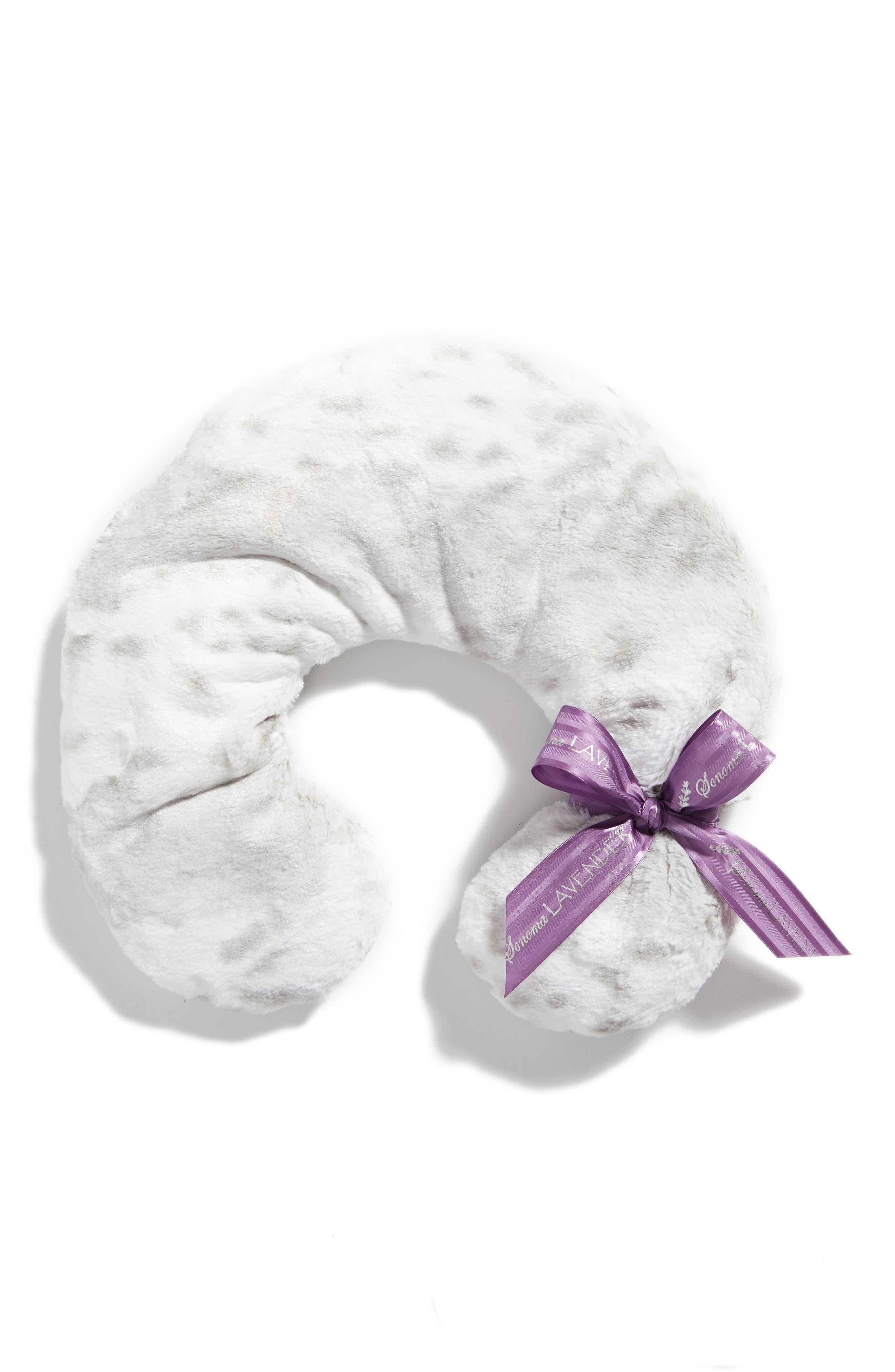 Sonoma Lavender Siberian Leopard Neck Pillow