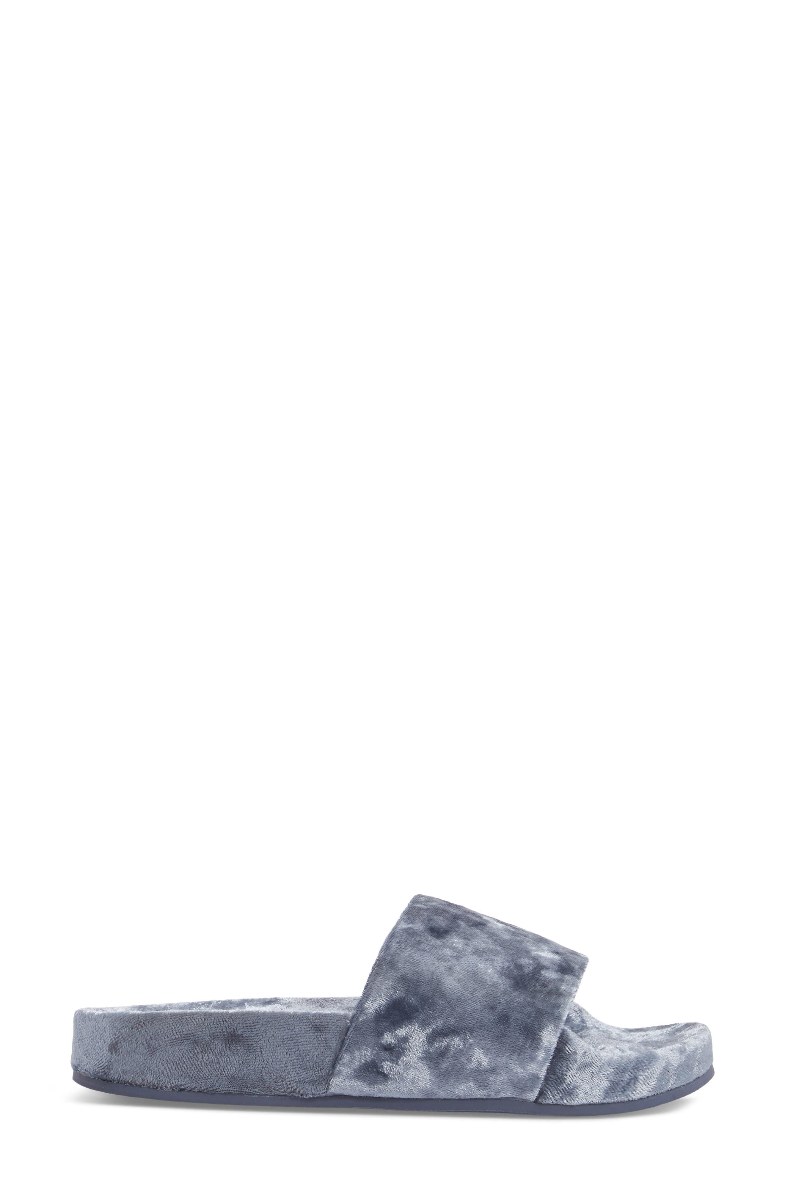 Alternate Image 3  - Steve Madden Slush Velvet Slide Sandal (Women)