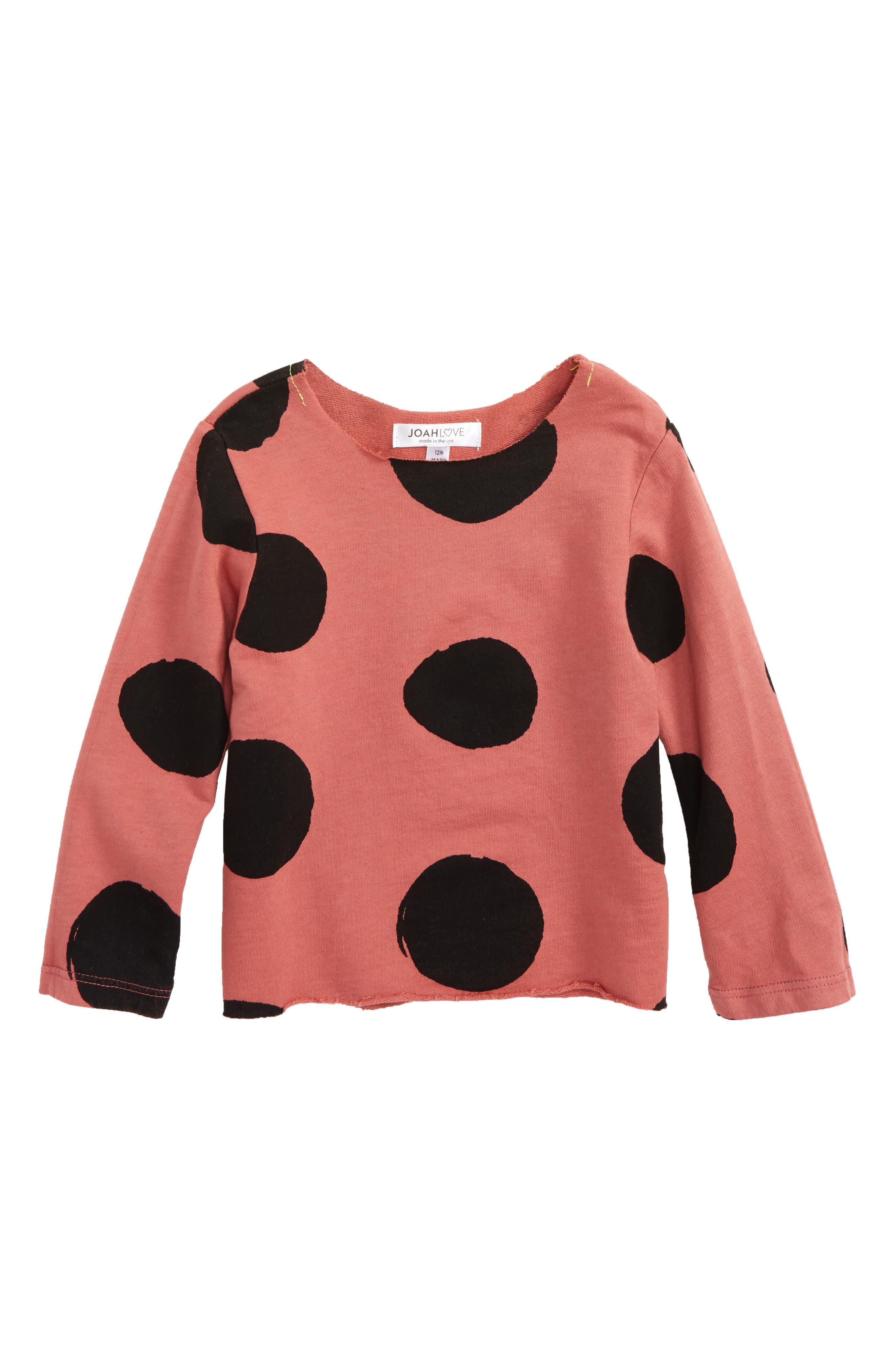 Main Image - Joah Love Dot Sweatshirt (Baby Girls)