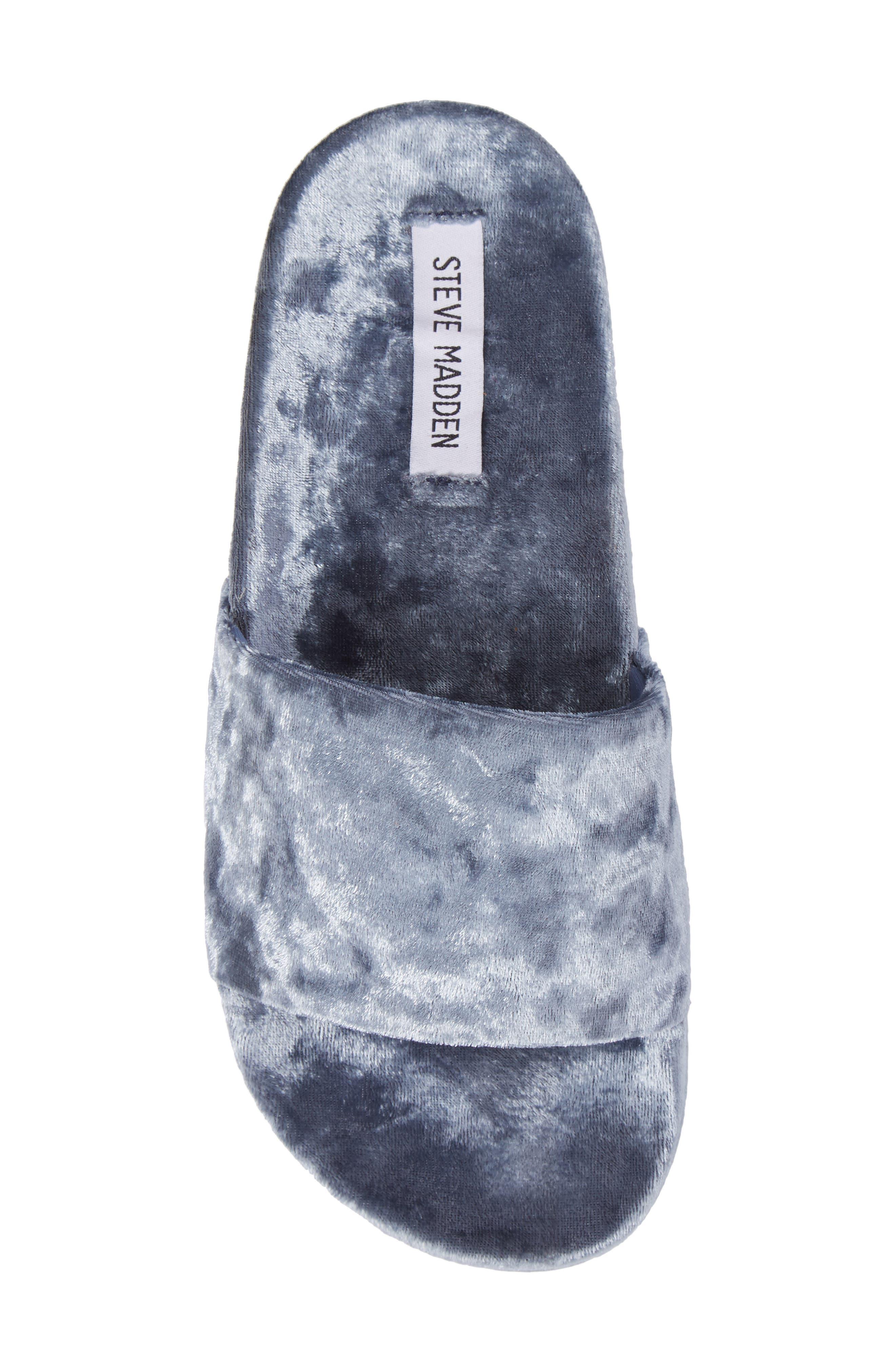 Alternate Image 5  - Steve Madden Slush Velvet Slide Sandal (Women)