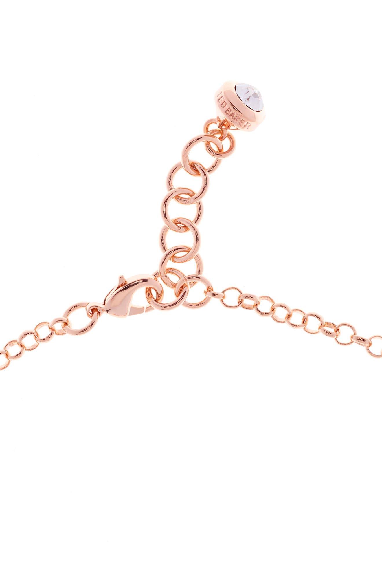 Alternate Image 3  - Ted Baker London Mini Plissé Drop Necklace
