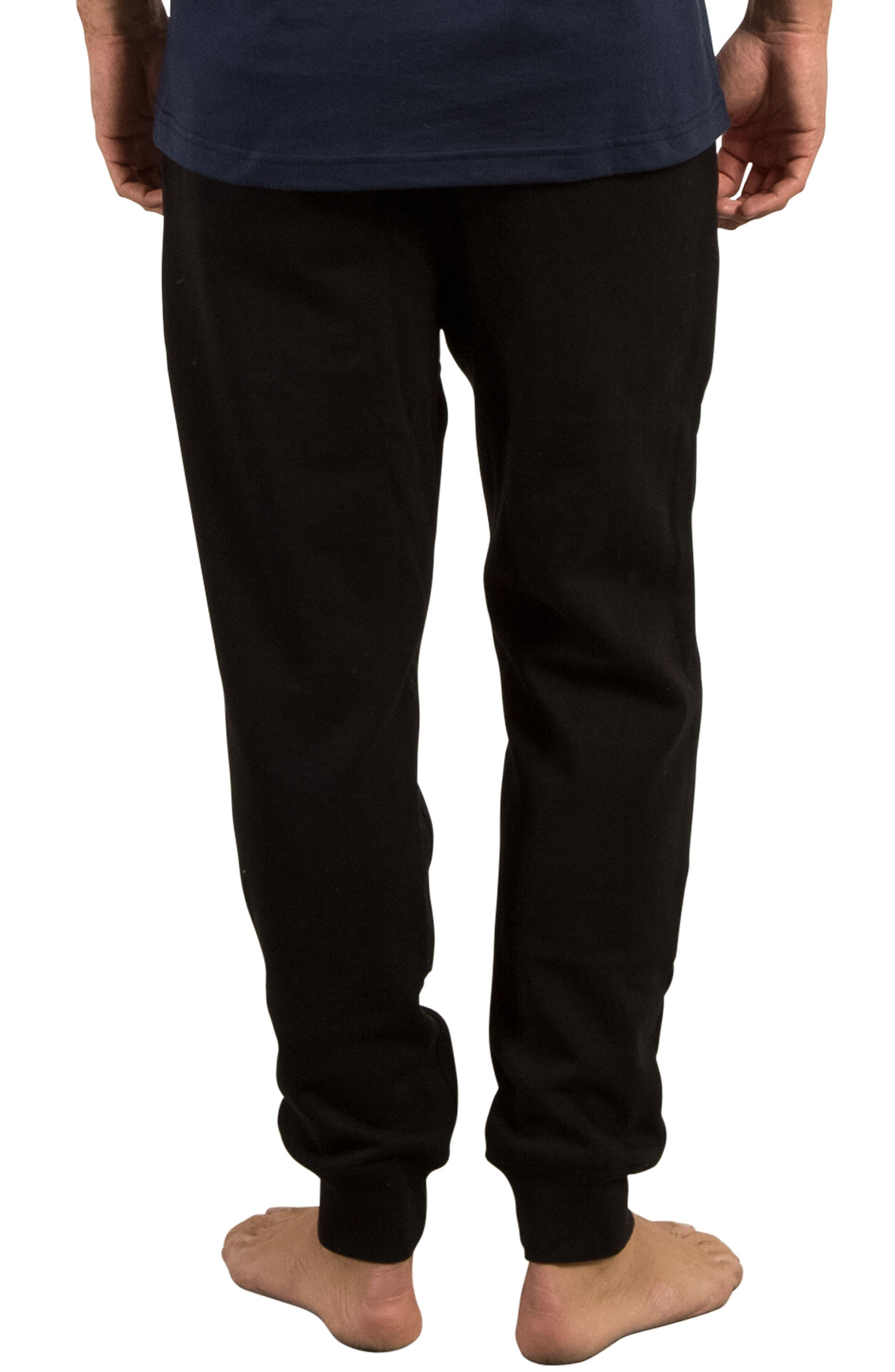 Single Stone Fleece Sweatpants,                             Alternate thumbnail 2, color,                             Black