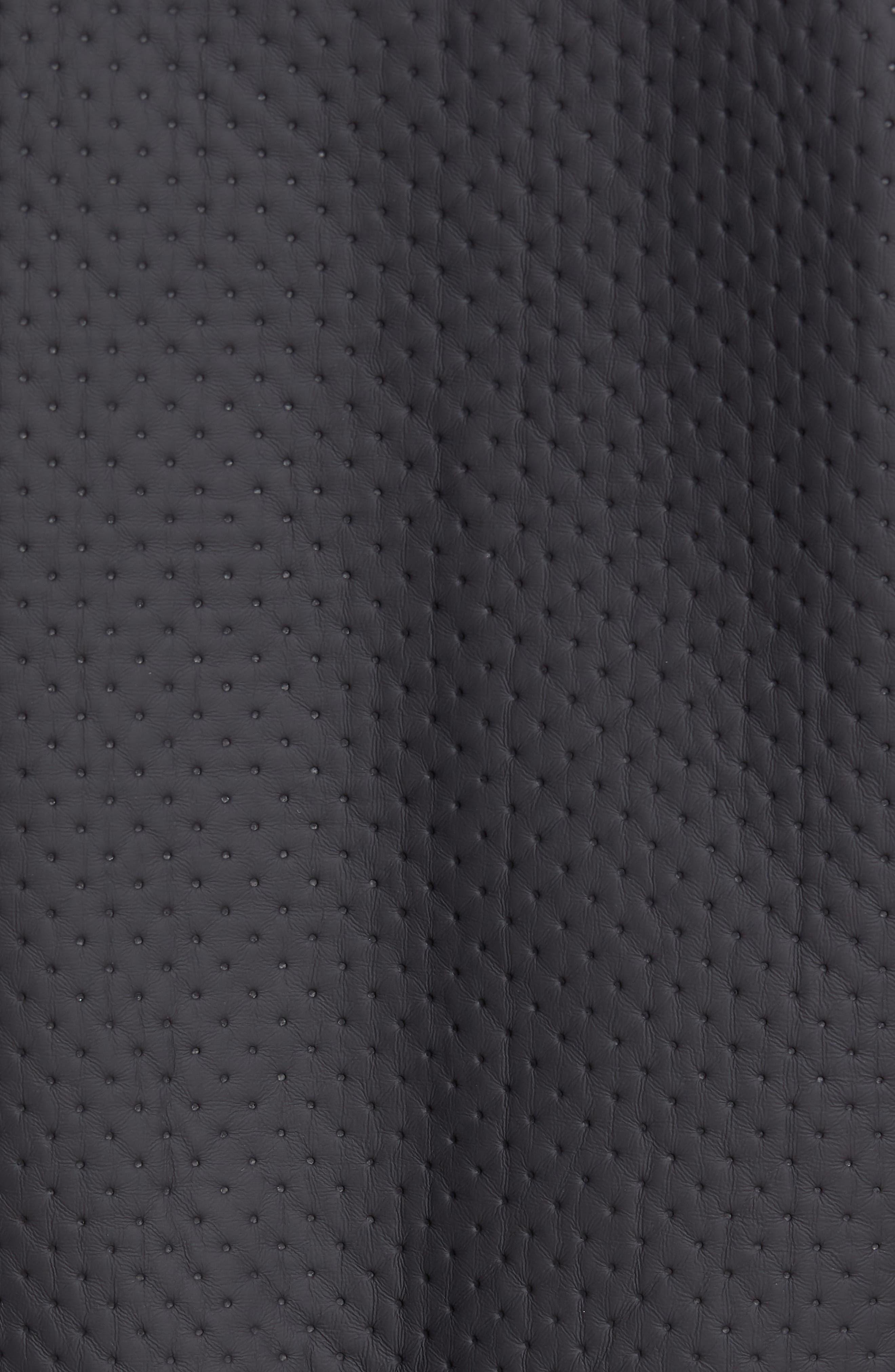 Faux Leather Jacket,                             Alternate thumbnail 5, color,                             Loud Blue