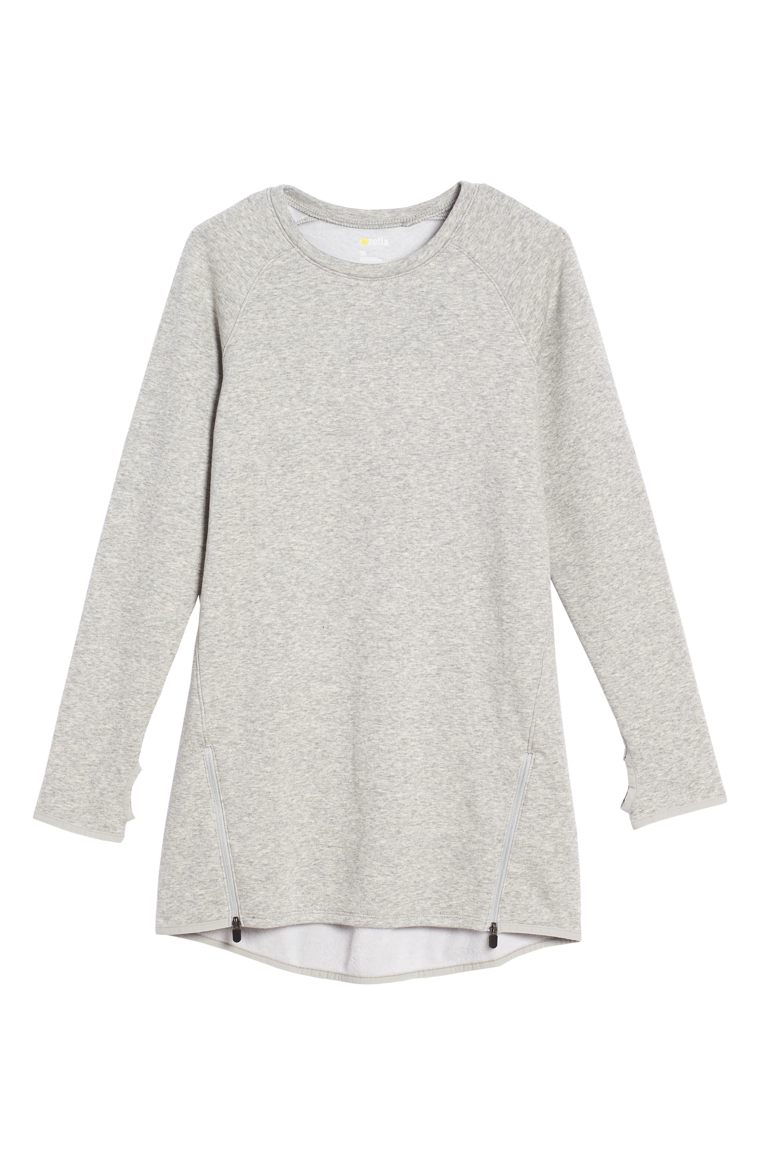 Zipper Sweatshirt Dress,                         Main,                         color, Grey Ash Heather