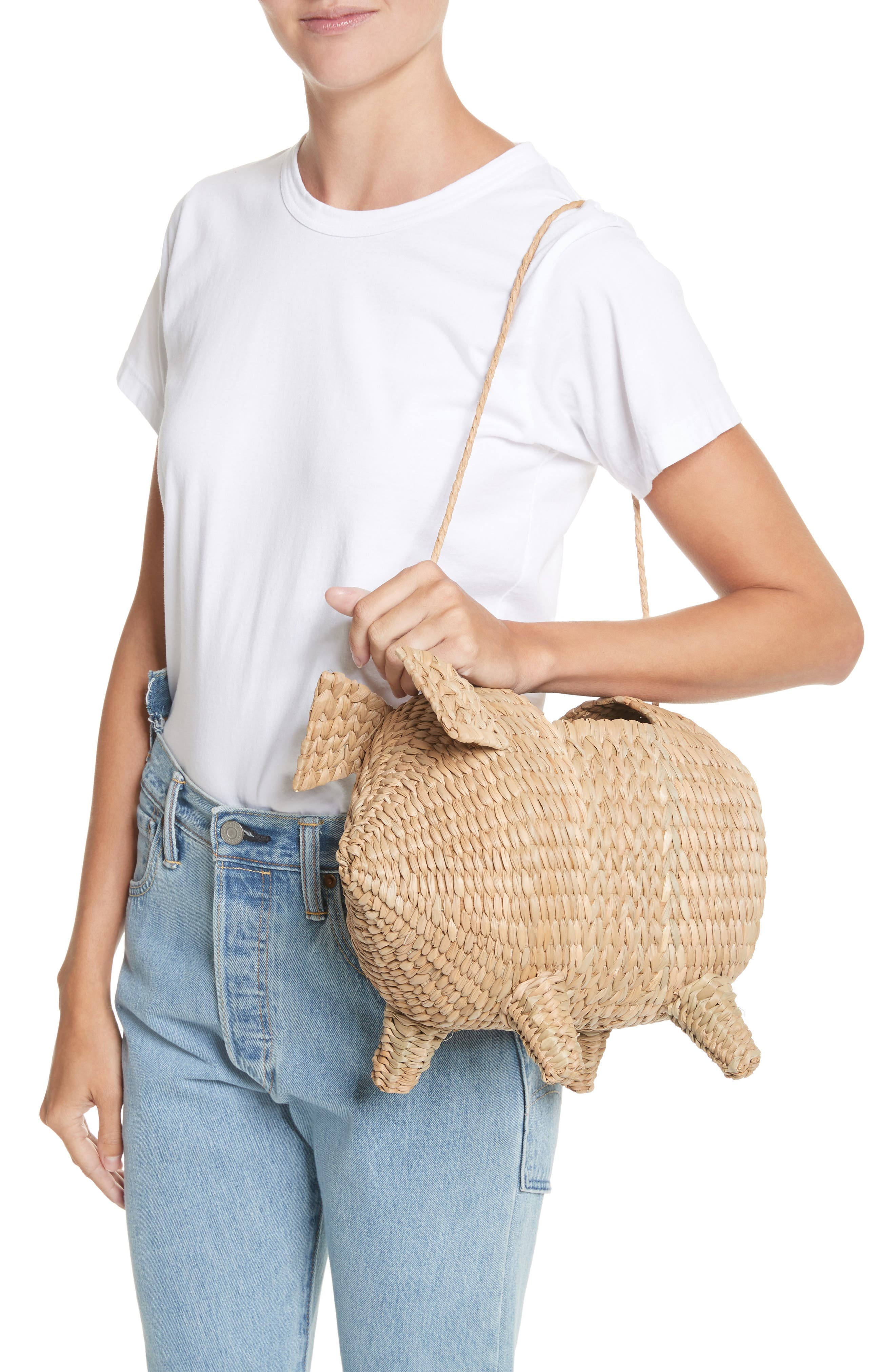 The Babe Straw Bag,                             Alternate thumbnail 2, color,                             Natural