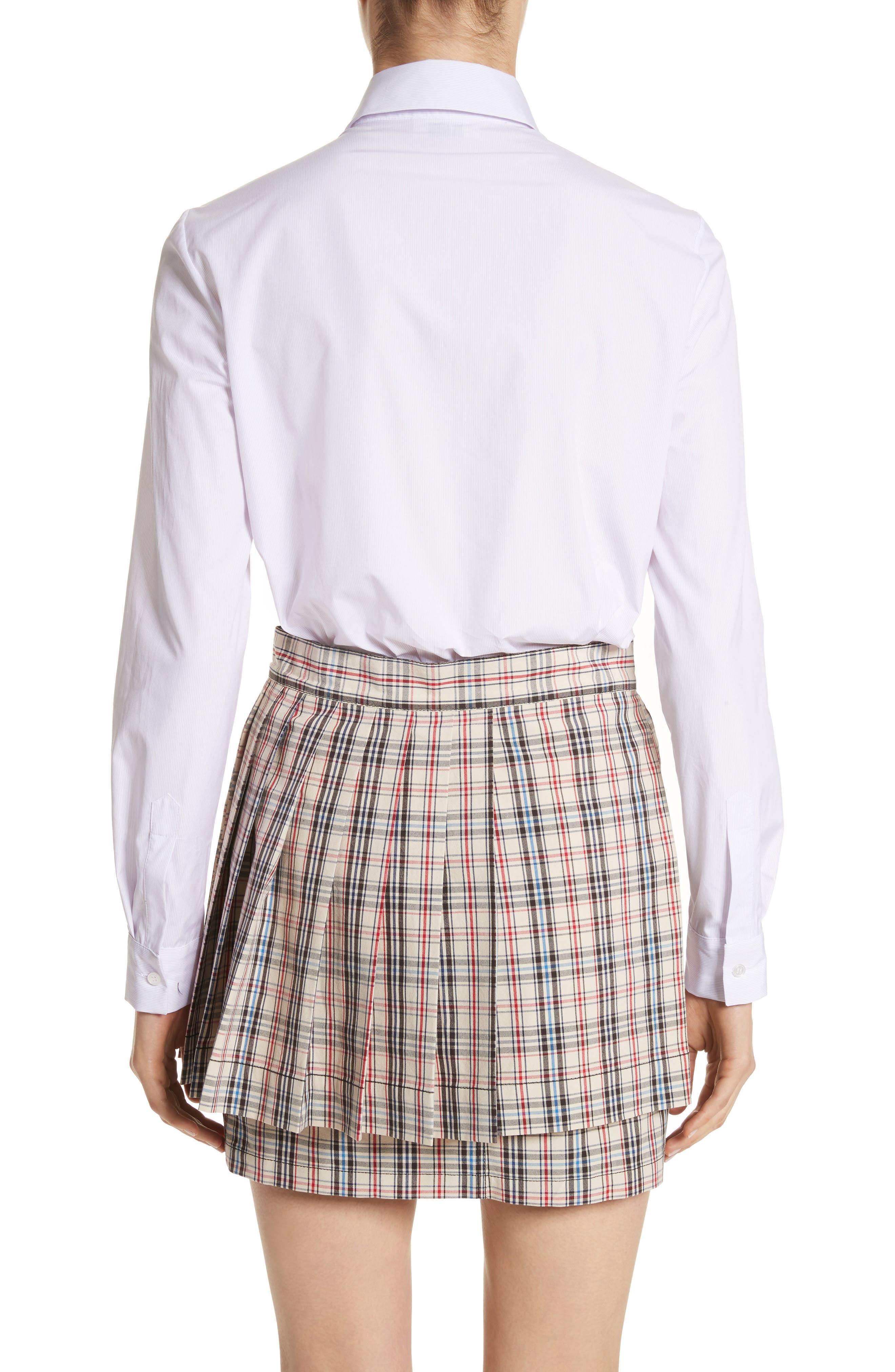 Classic Studded Bra Shirt,                             Alternate thumbnail 2, color,                             Lilac/ White