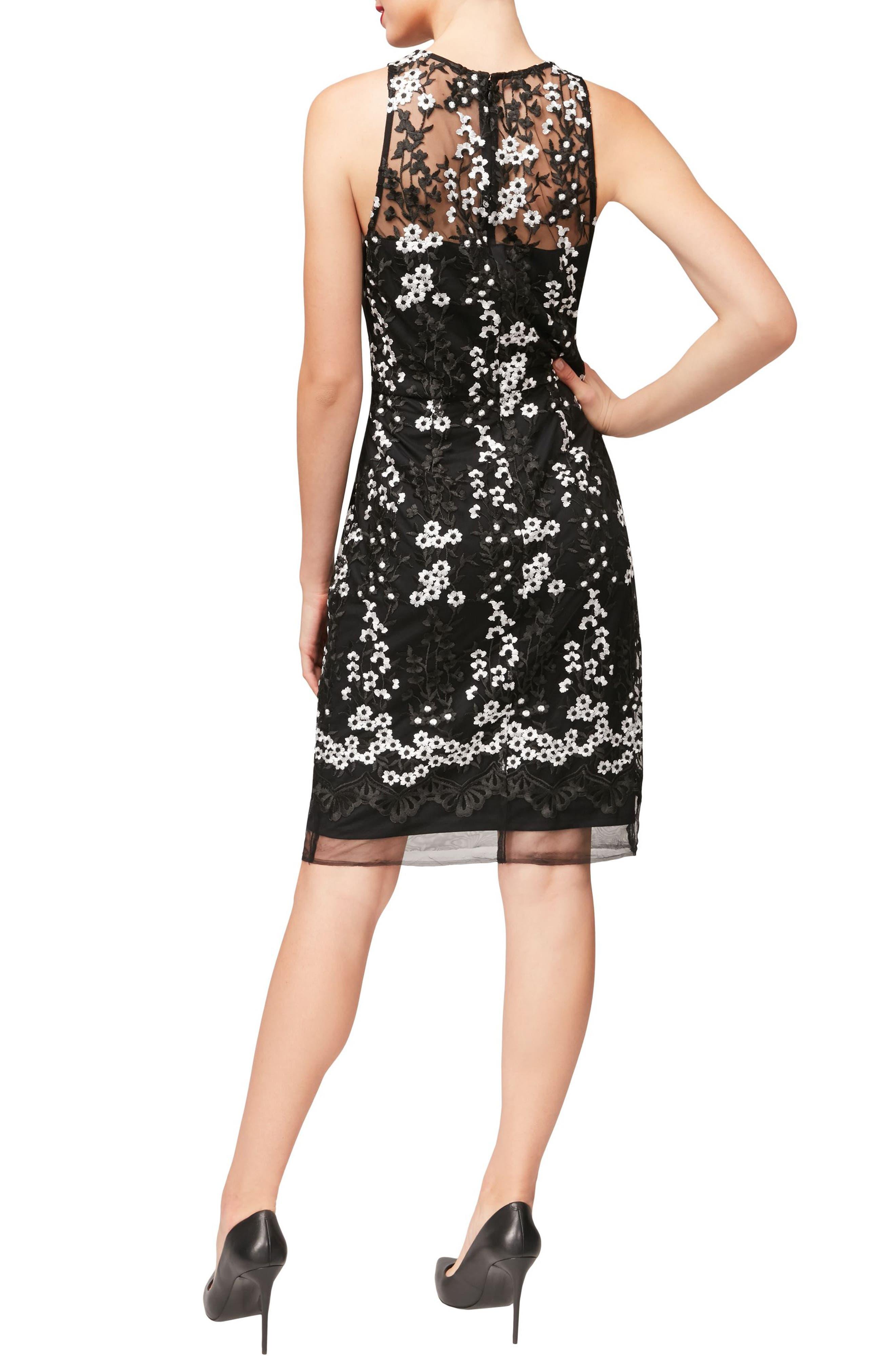Alternate Image 2  - Betsey Johnson Floral Lace Sheath Dress