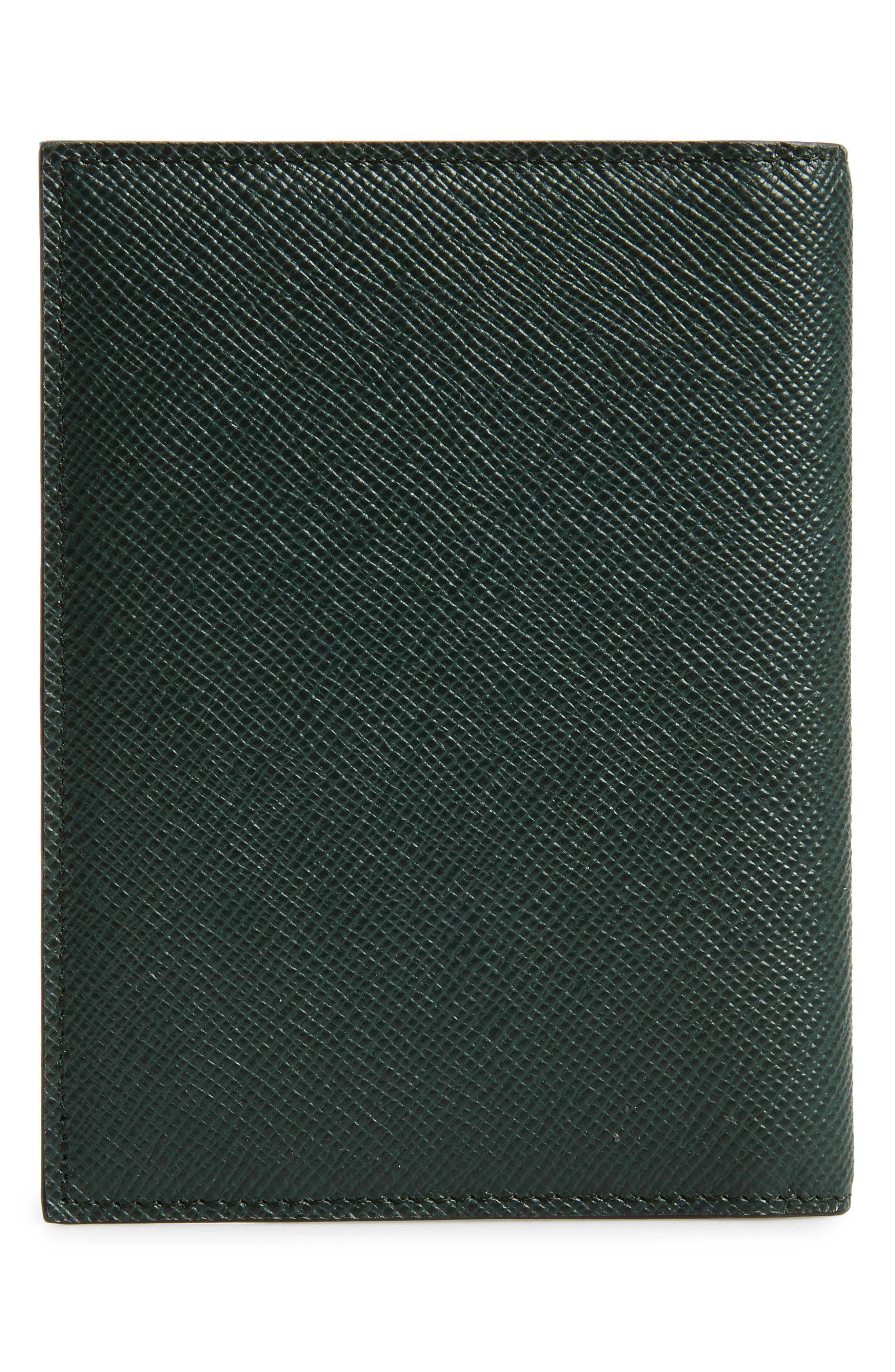 Evolution Leather Passport Case,                             Alternate thumbnail 3, color,                             Forest Green