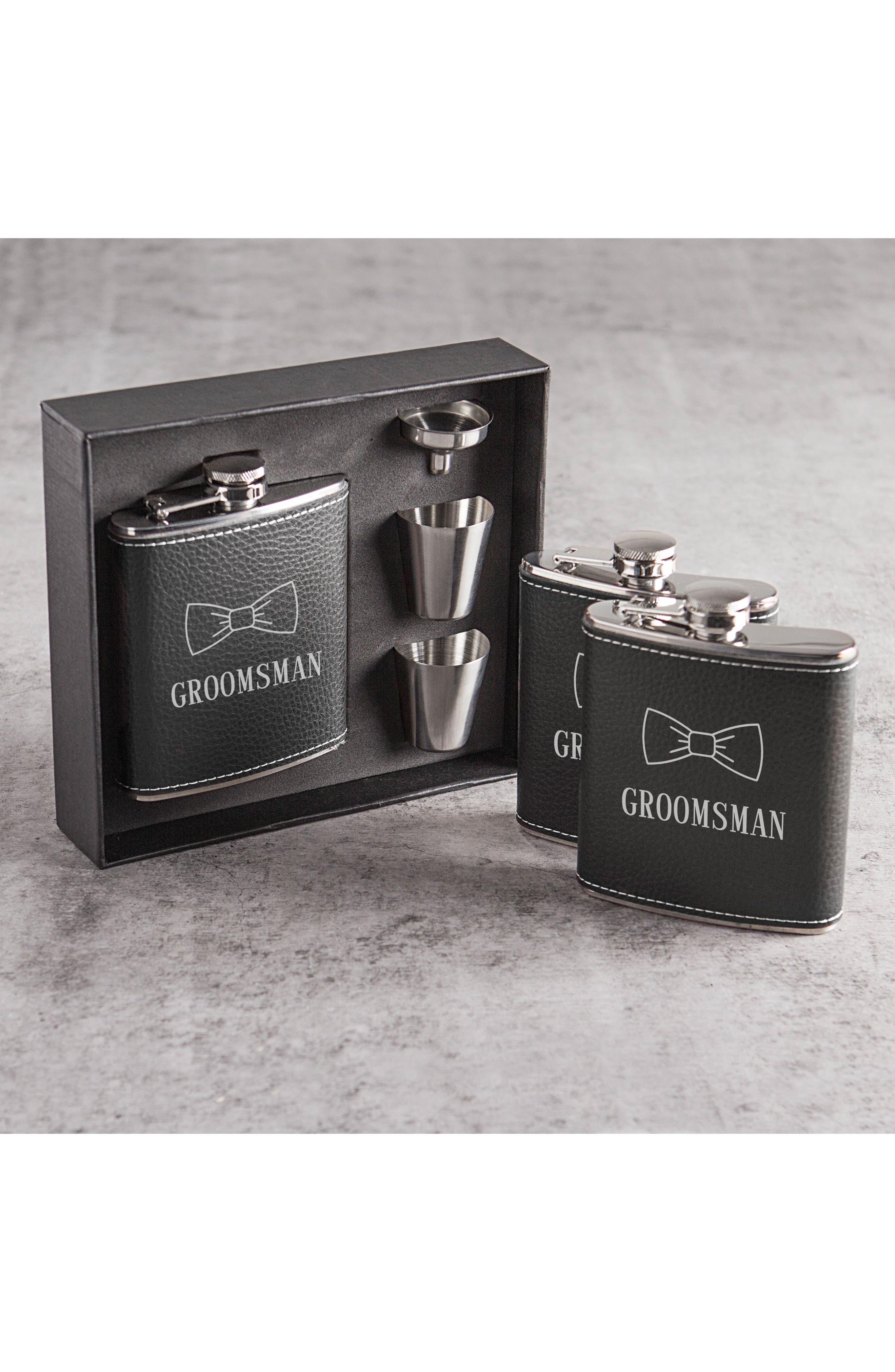 Alternate Image 3  - Cathy's Concepts Groomsman Flask Set