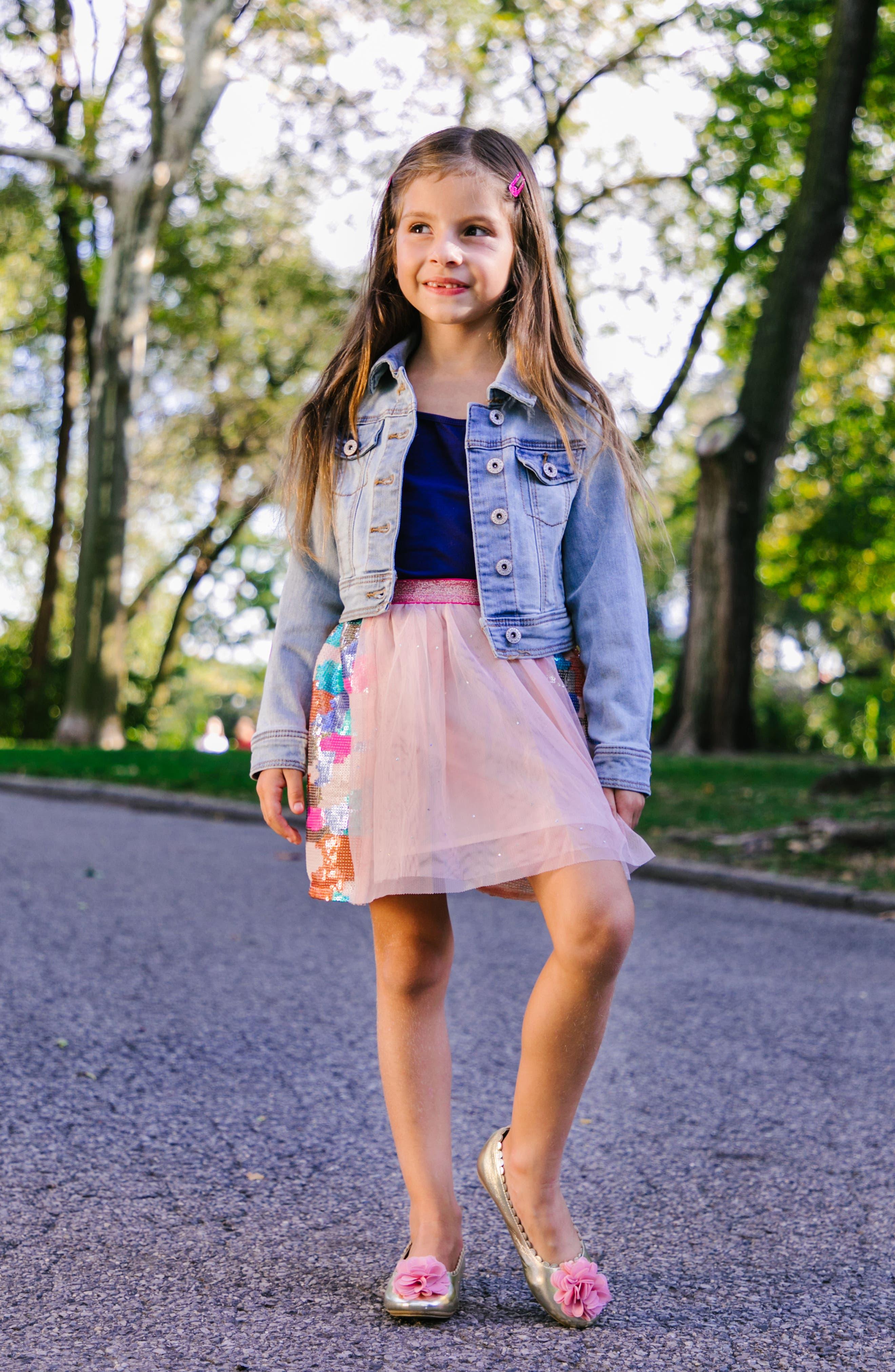 Alternate Image 9  - WellieWishers from American Girl Ashlyn Flower Strap Ballet Flat (Walker & Toddler)