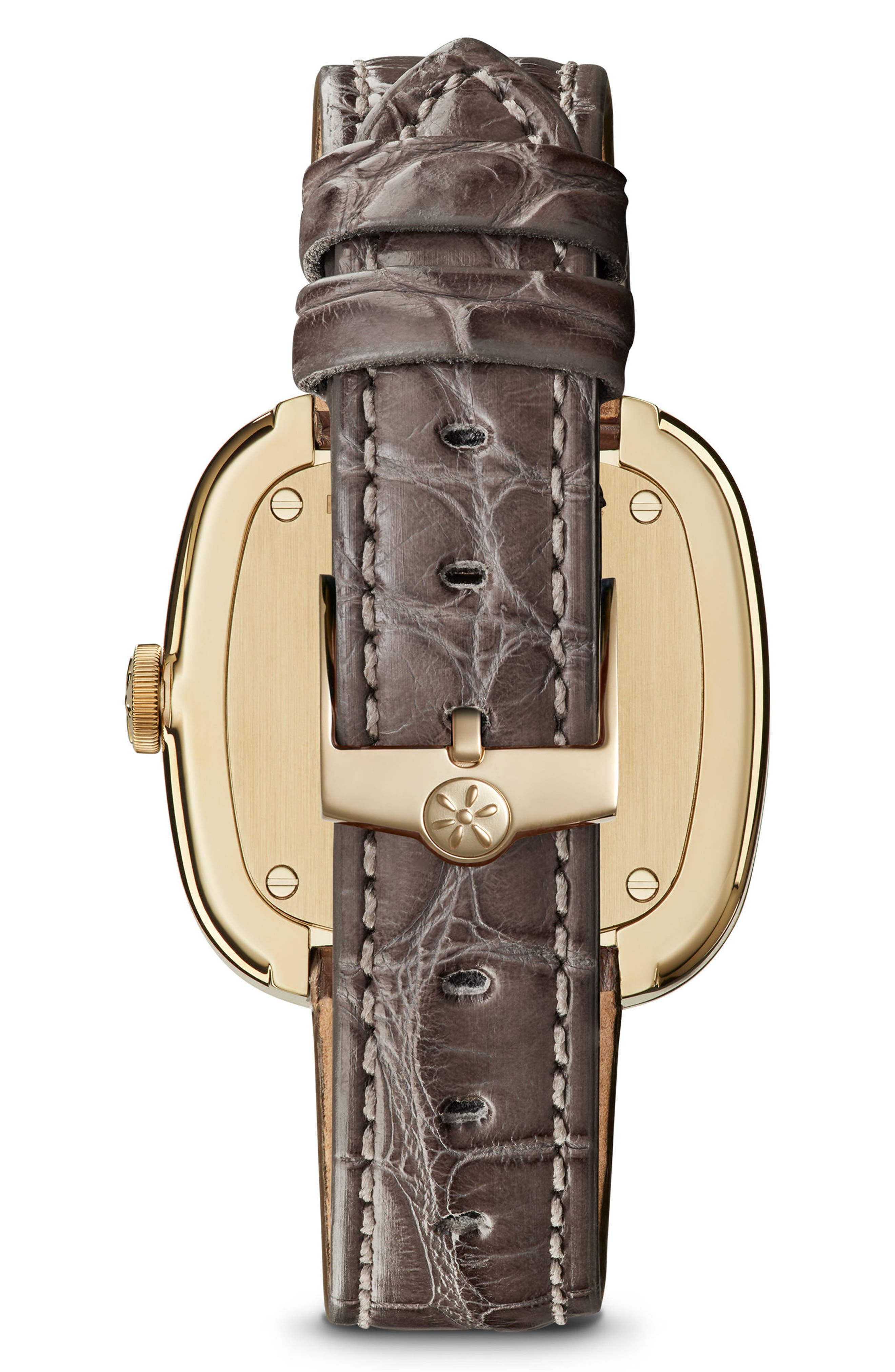 Alternate Image 2  - Gomelsky The Eppie Sneed Mini Alligator Strap Watch, 32mm