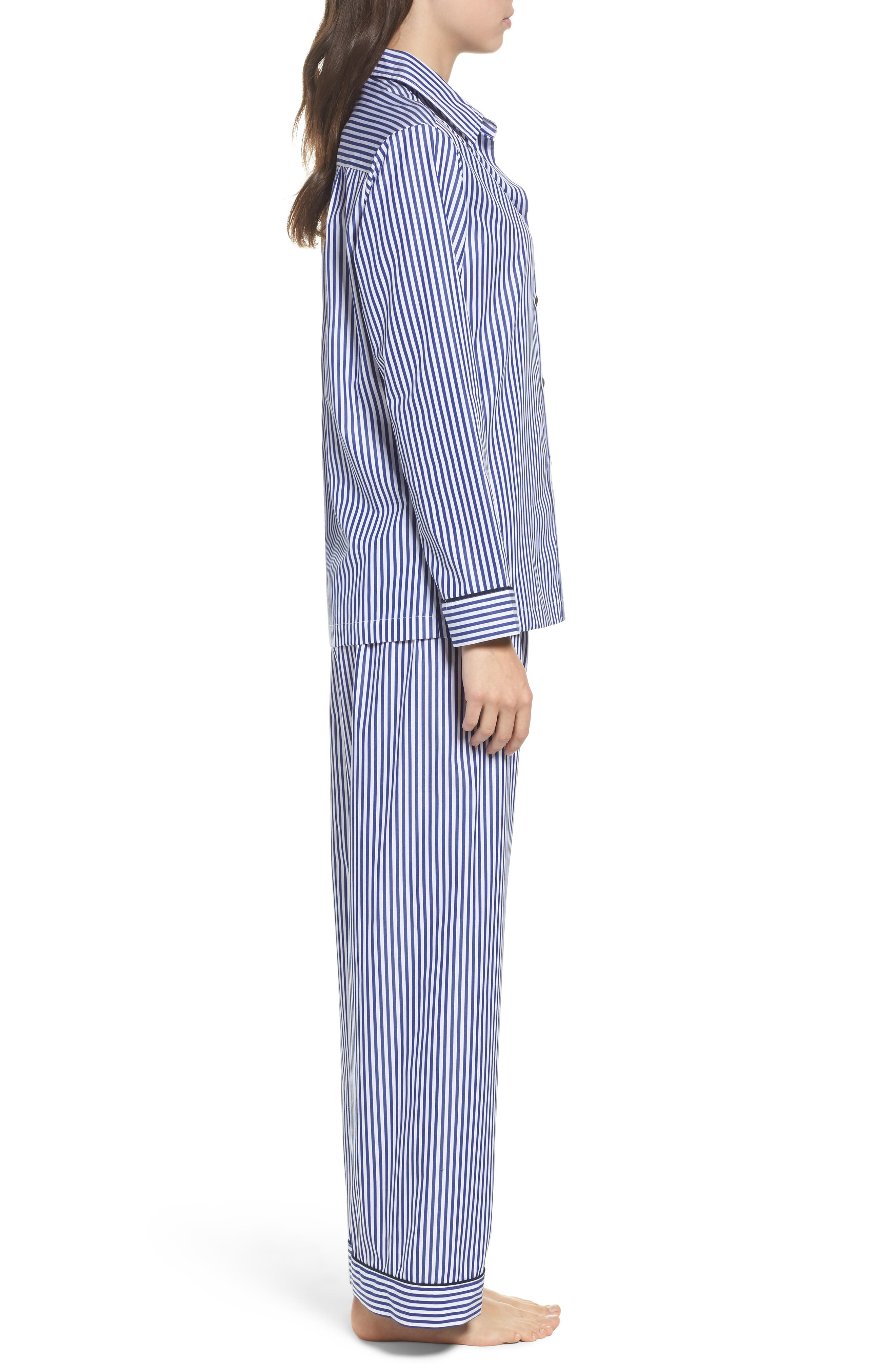 Stripe Pajamas,                             Alternate thumbnail 3, color,                             Navy Stripe