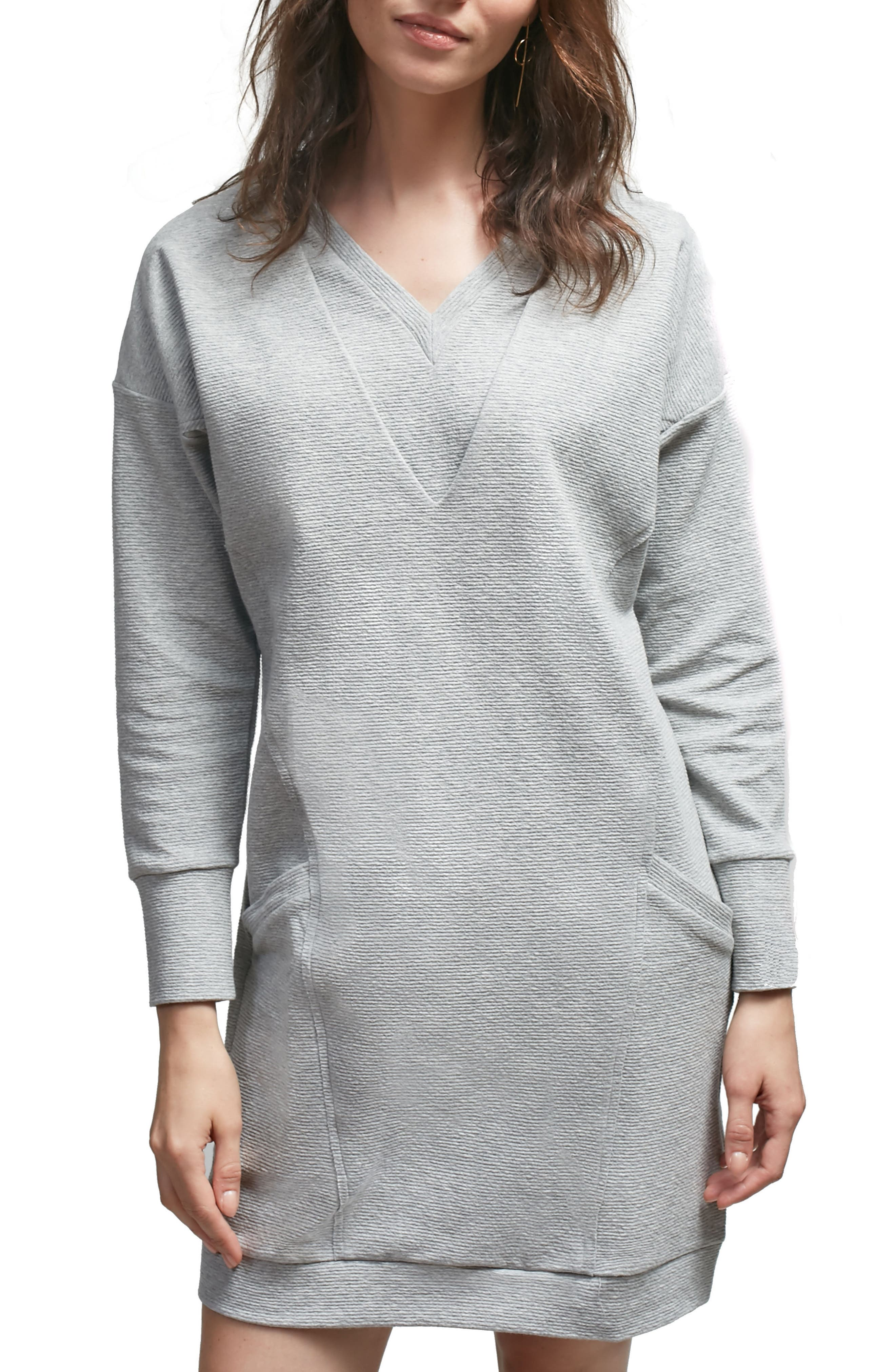 Margot Nursing Sweater Dress,                         Main,                         color, Grey