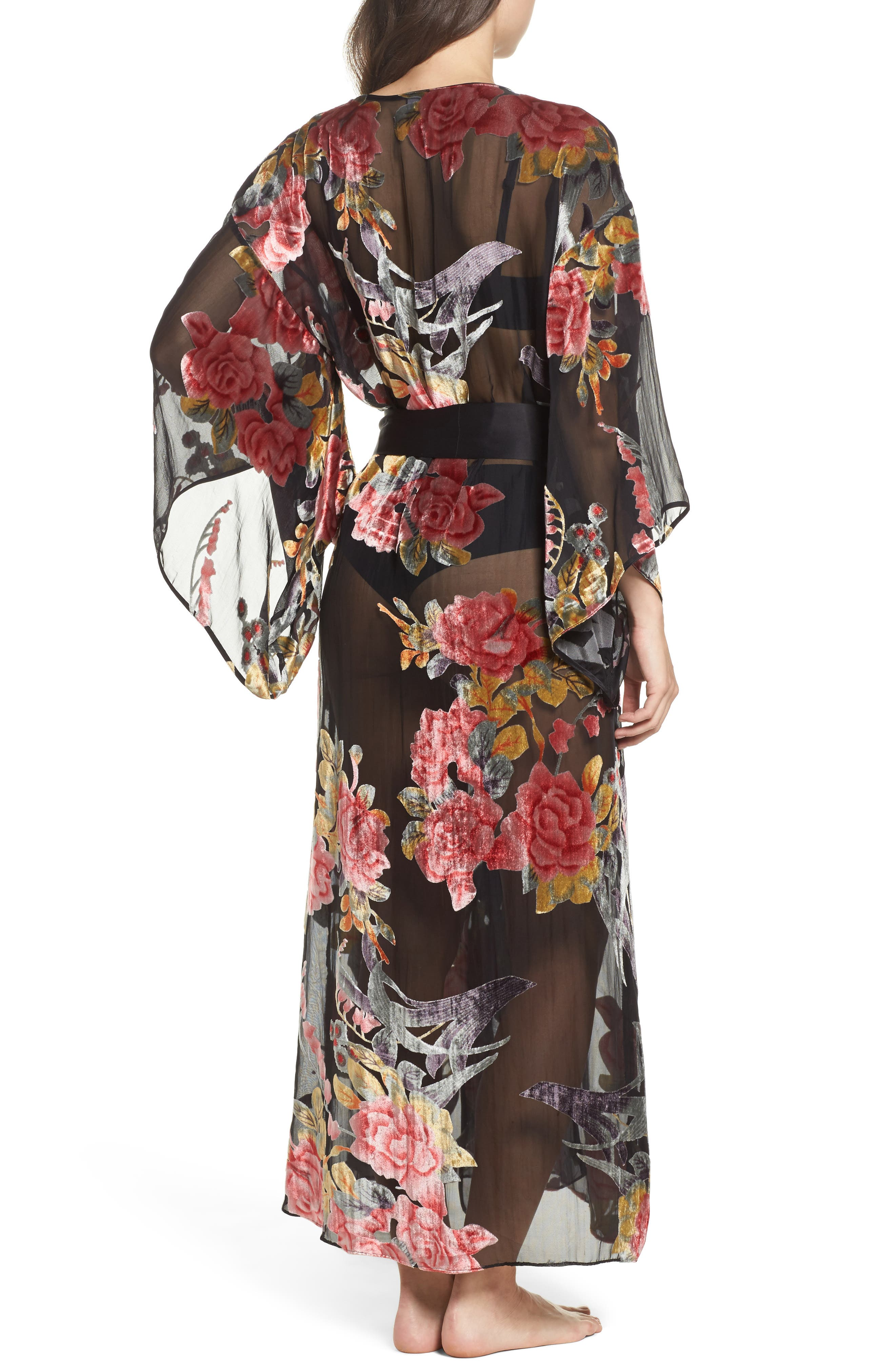 Alternate Image 2  - Natori Burnout Velvet Robe