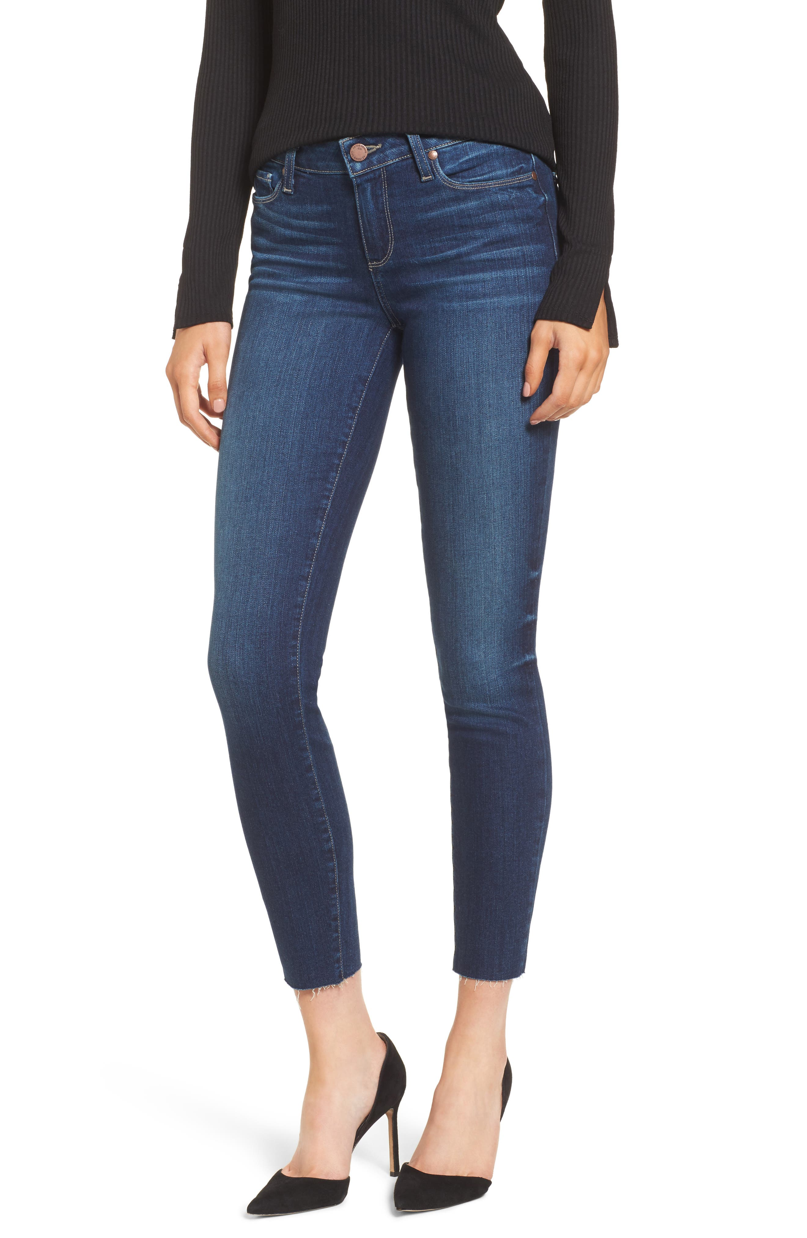 Verdugo Skinny Ankle Jeans,                             Main thumbnail 1, color,                             Boise