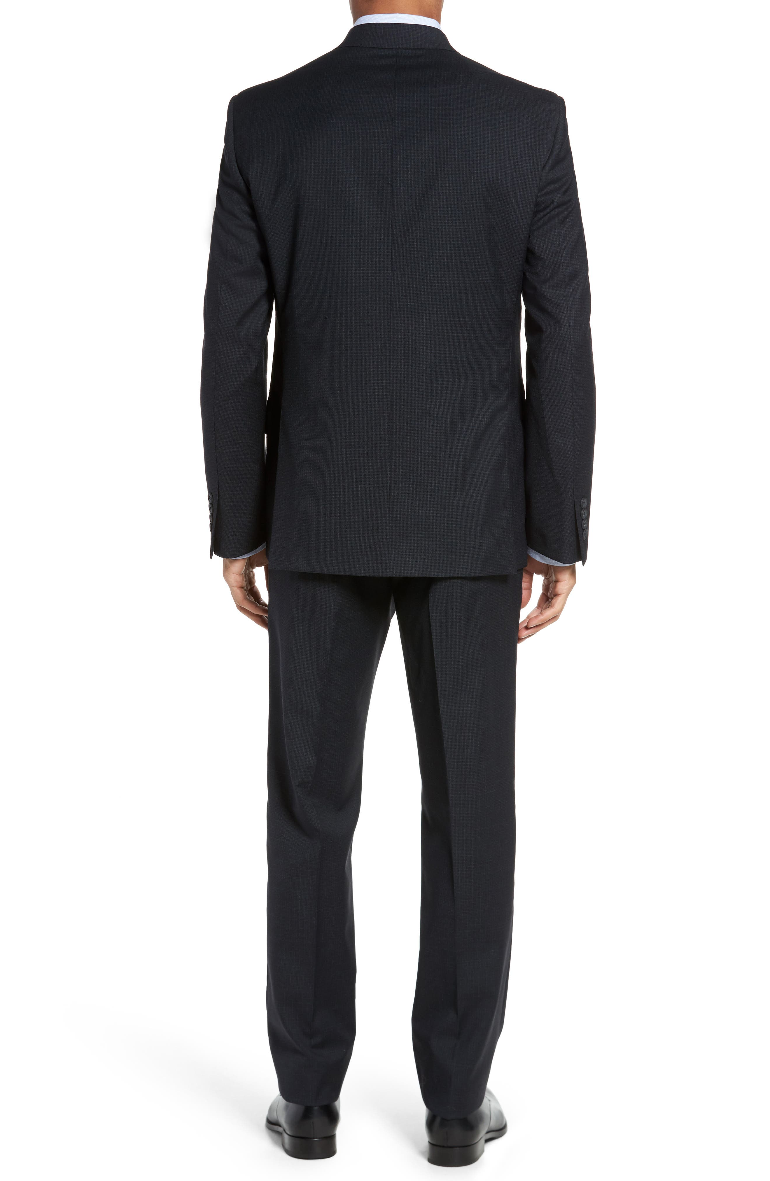 Classic Fit Check Wool Suit,                             Alternate thumbnail 2, color,                             Charcoal