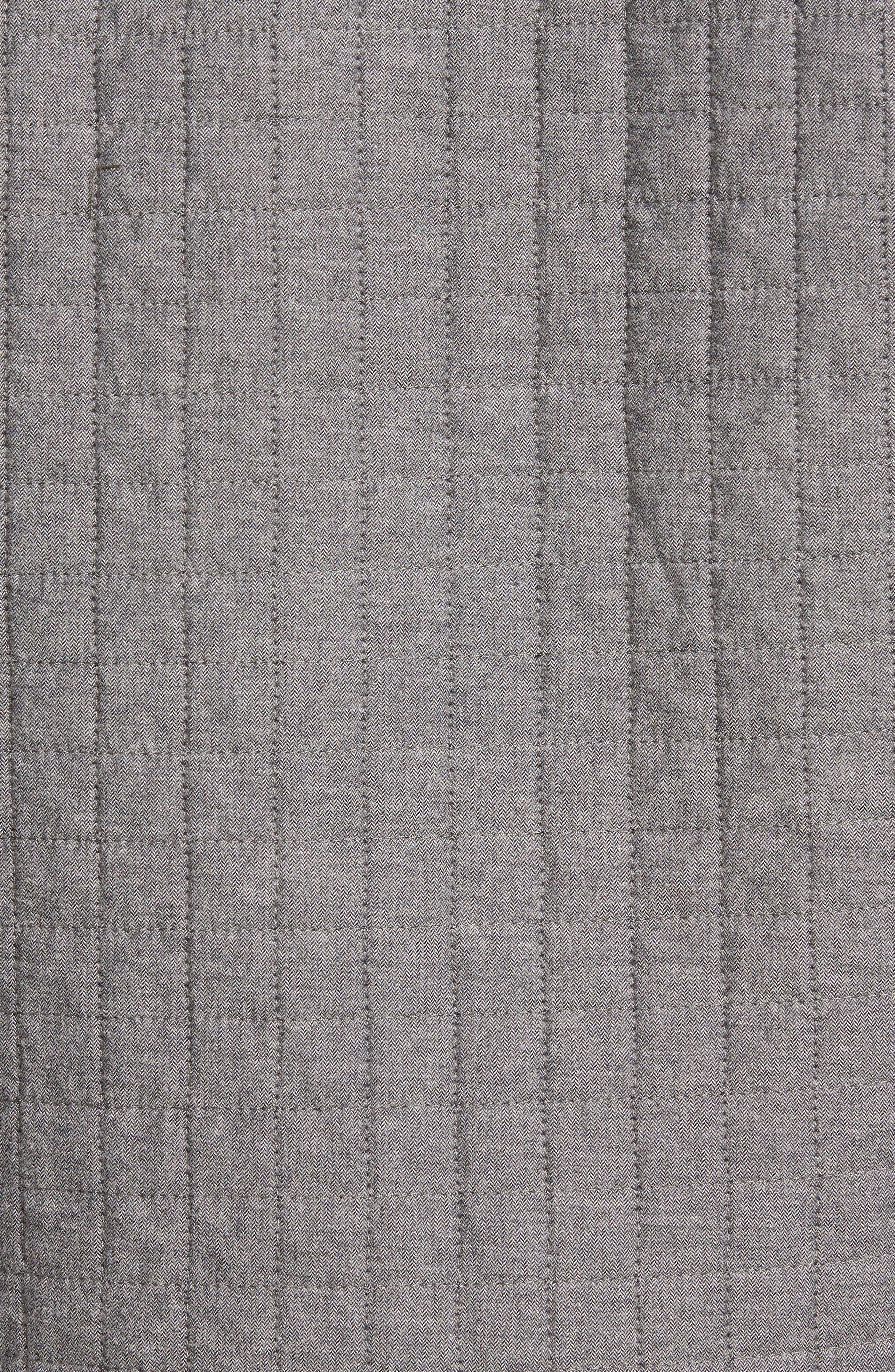 Gunstock River Lightweight Quilted Shirt Jacket,                             Alternate thumbnail 5, color,                             Grey