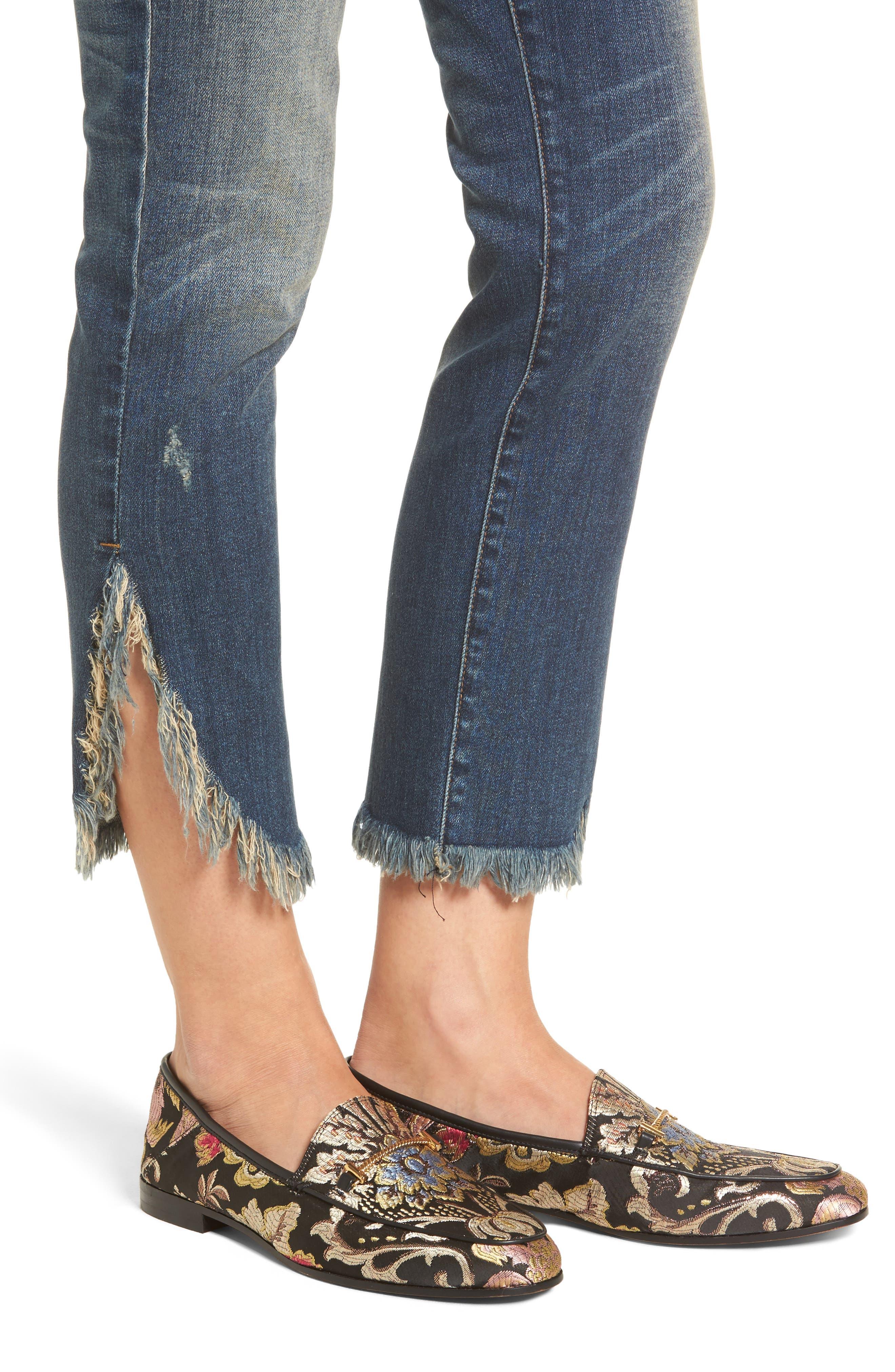 Emma Fray Tulip Hem Skinny Jeans,                             Alternate thumbnail 4, color,                             Nelson
