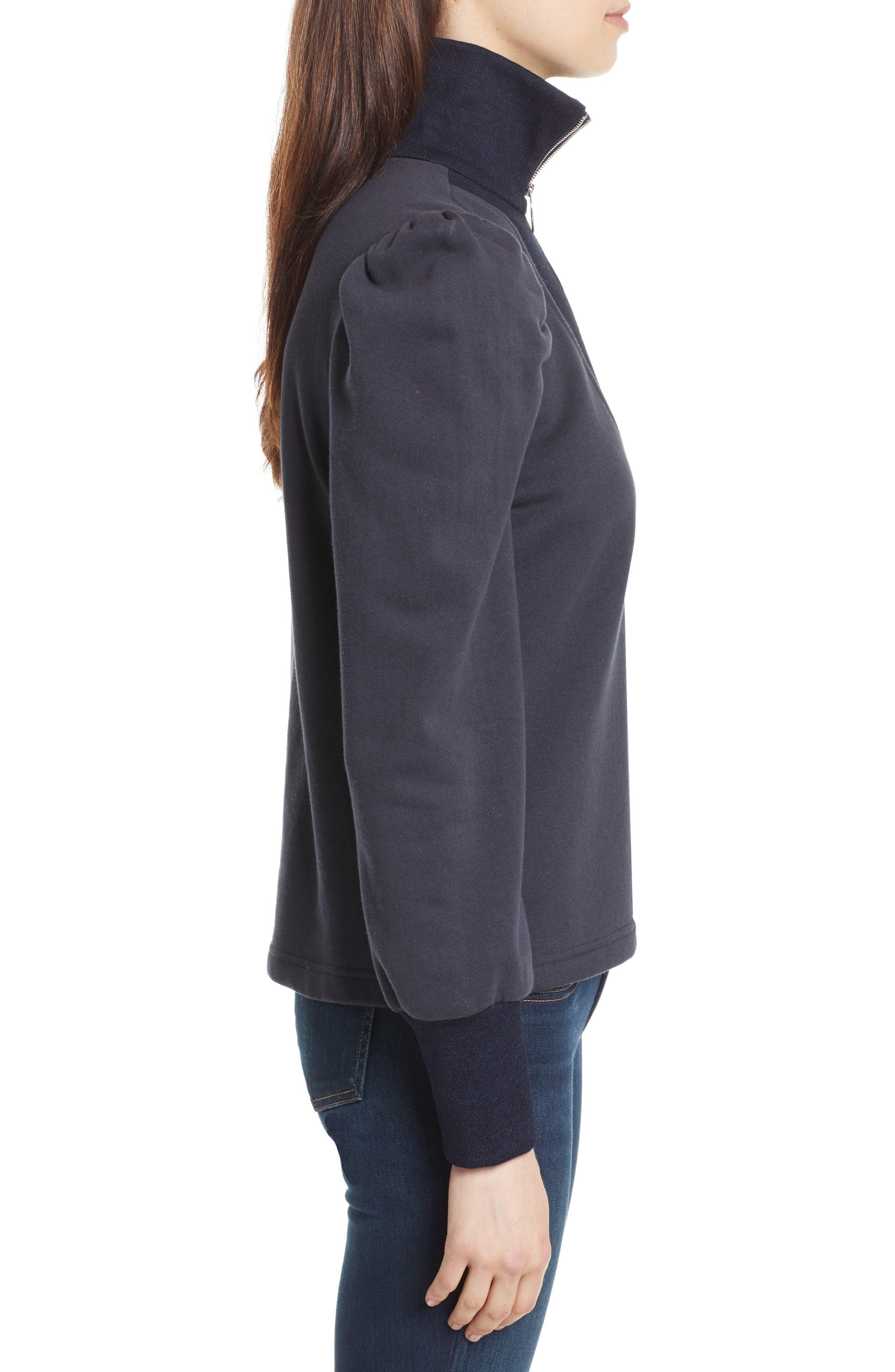 Alternate Image 3  - Rebecca Taylor Turtleneck Fleece Zip Pullover
