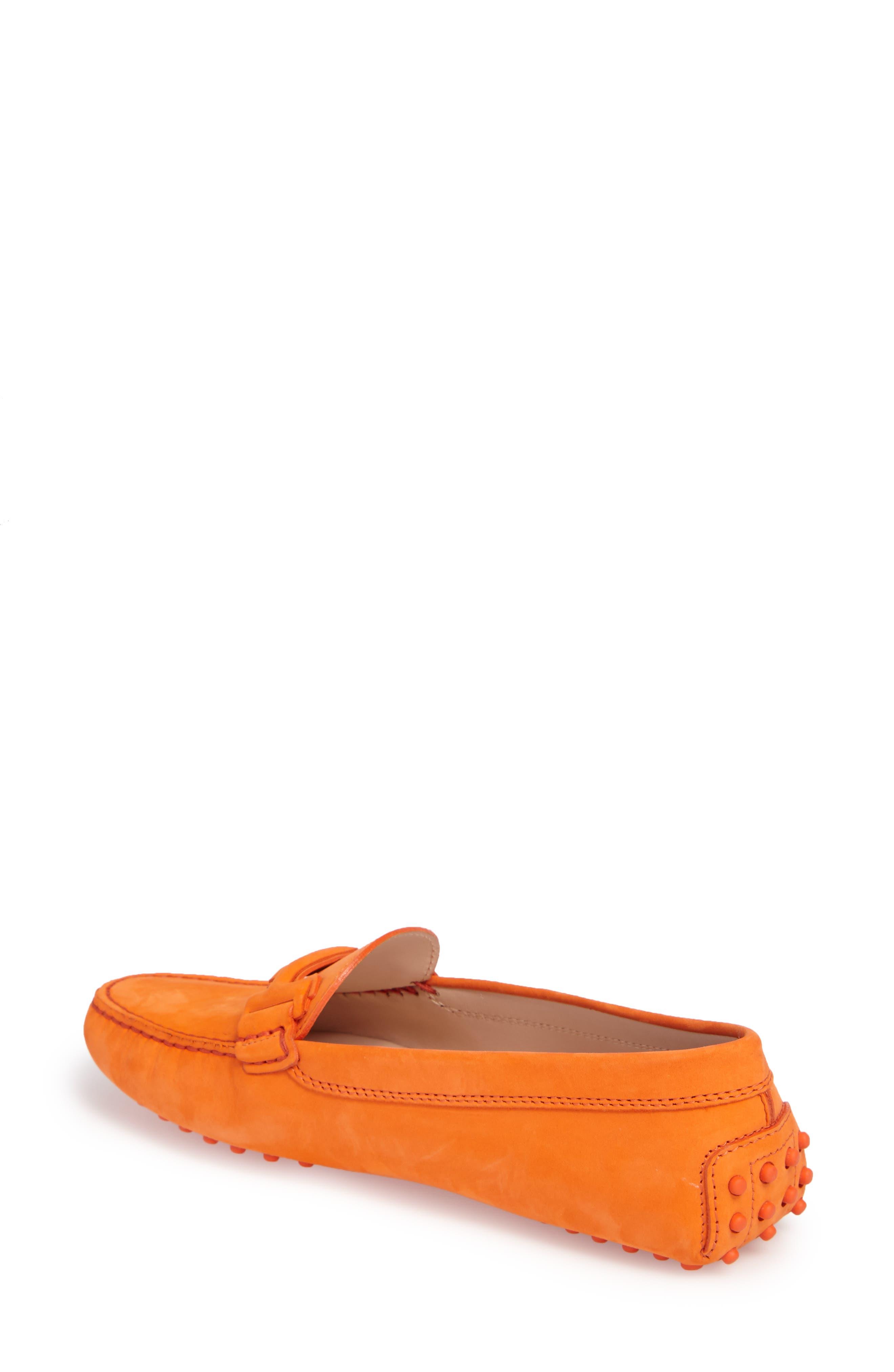 Gommini Covered Double T Loafer,                             Alternate thumbnail 2, color,                             Orange