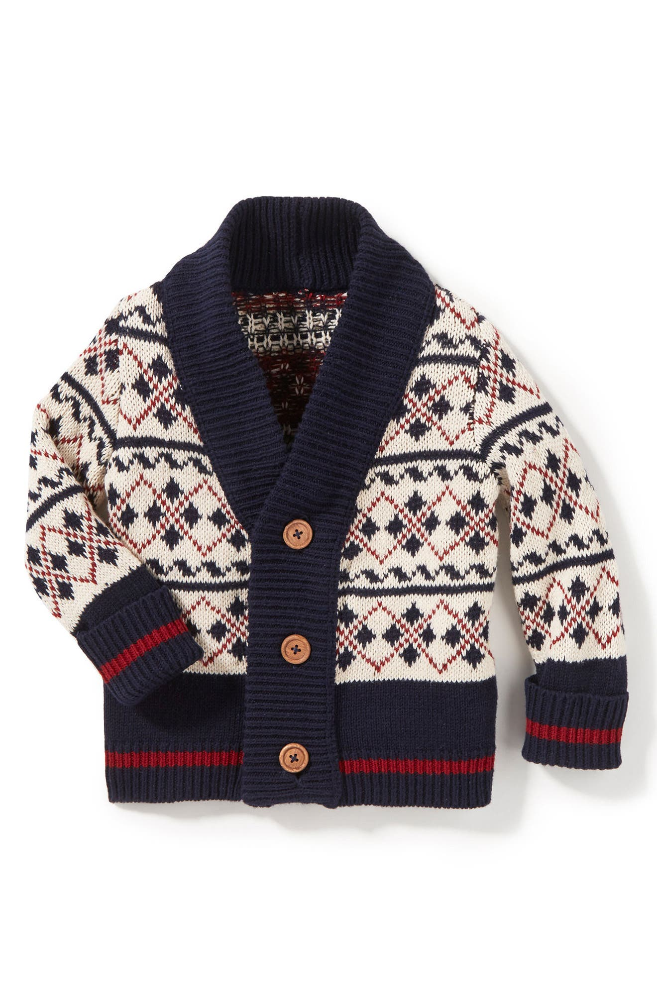 Peek Mackai Pattern Cardigan Sweater (Baby Boys)