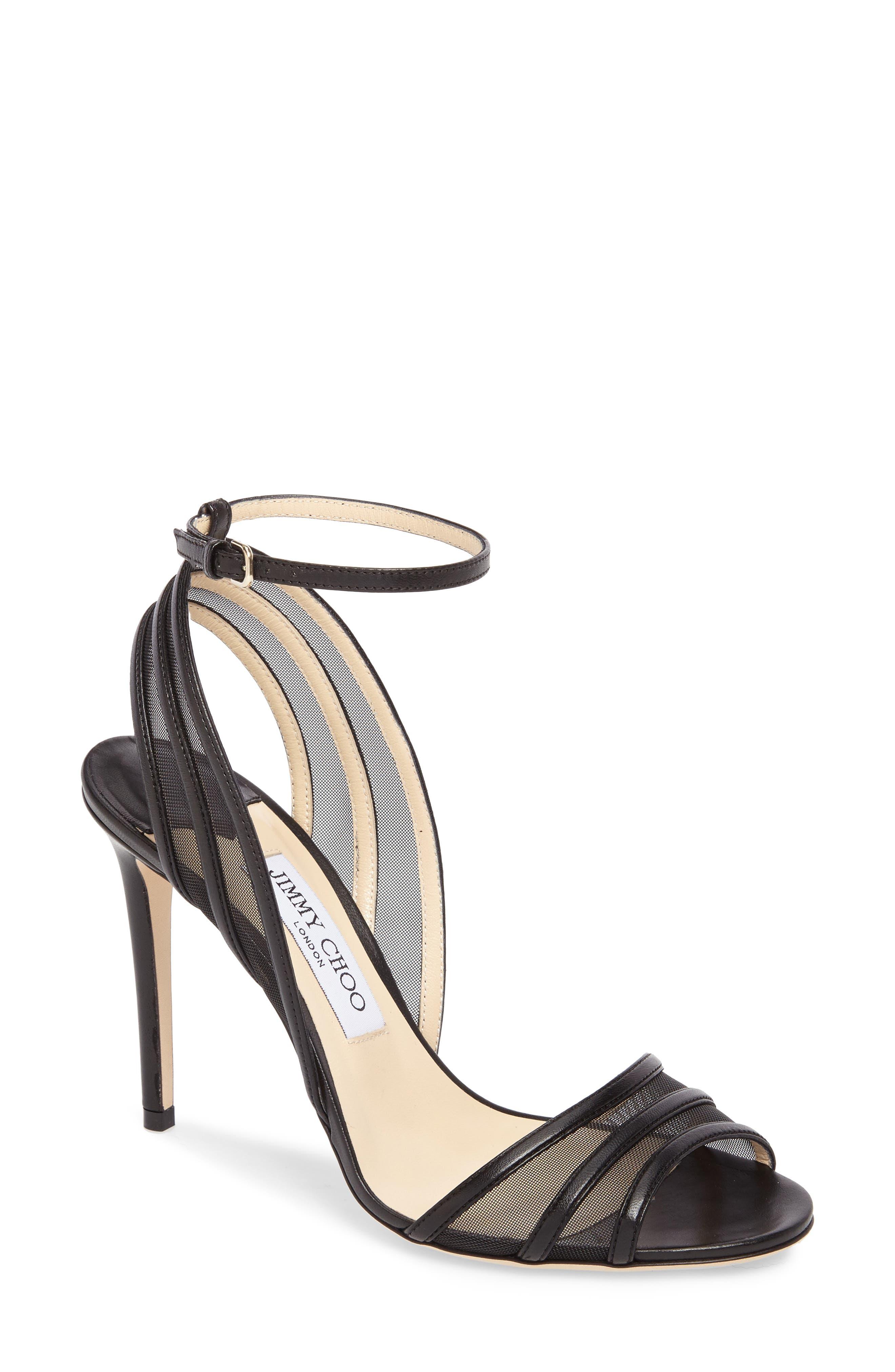 Betty Illusion Sandal,                         Main,                         color, Black/ Black