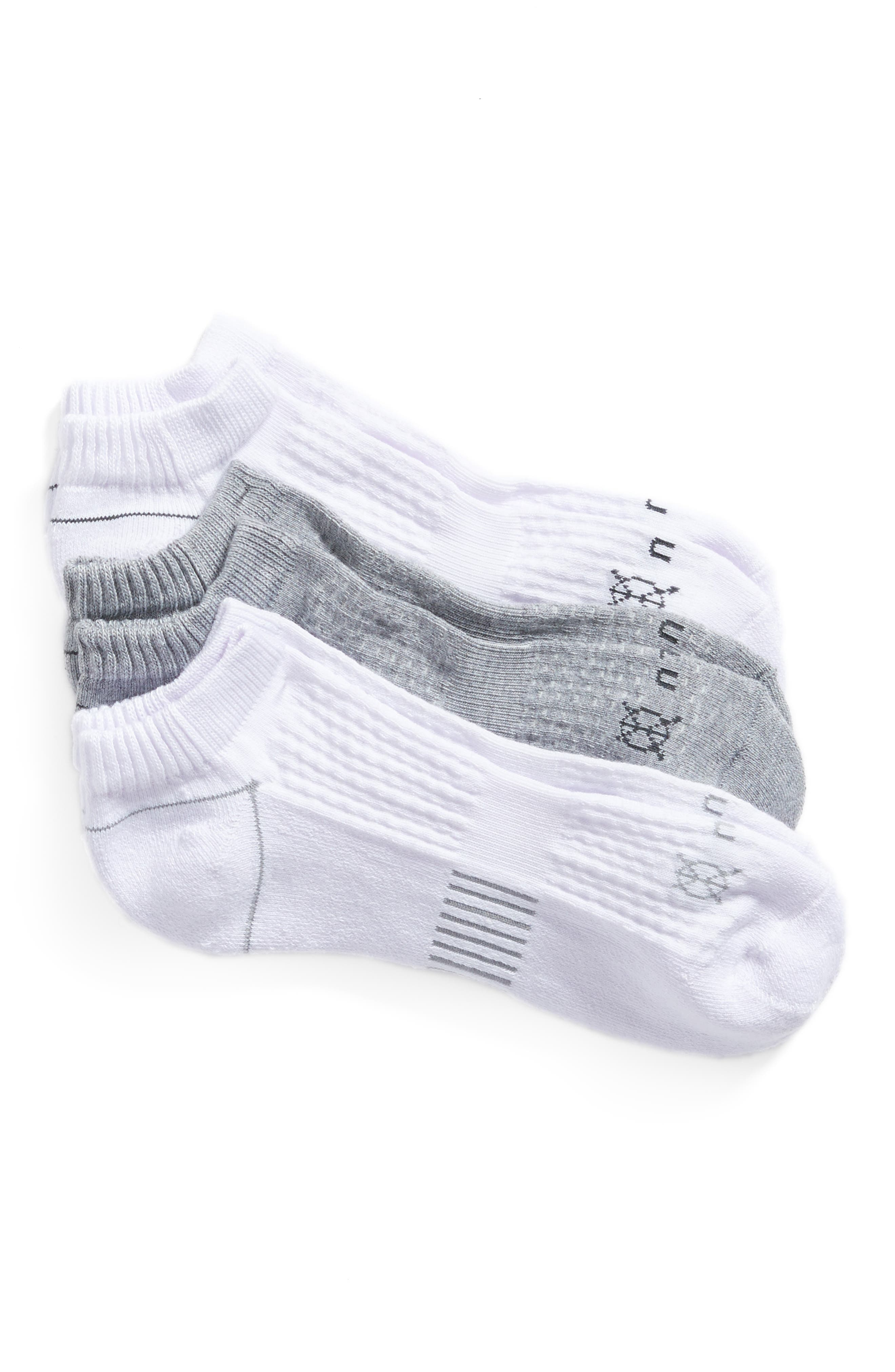 Zulu 2-Pack No Show Socks,                         Main,                         color, White