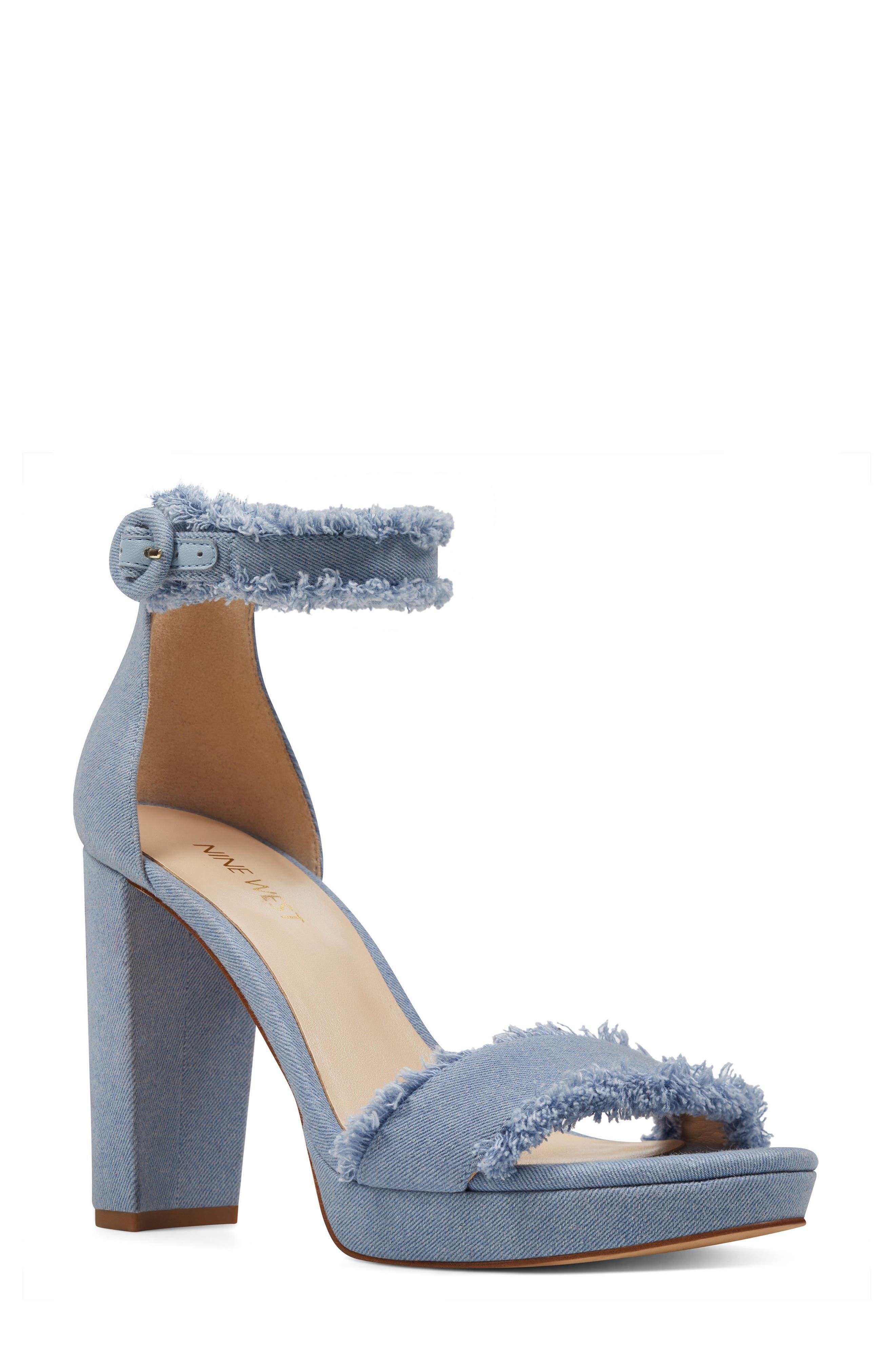 Alternate Image 1 Selected - Nine West Daranita Ankle Strap Sandal (Women)