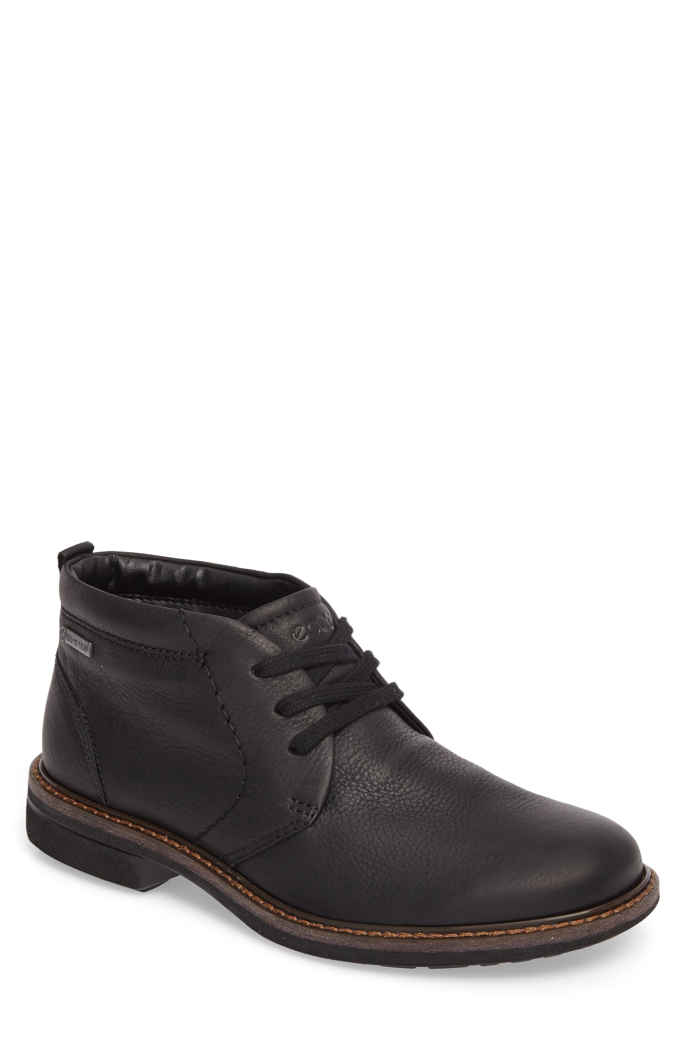 Turn Gore-Tex<sup>®</sup> Waterproof Chukka Boot,                         Main,                         color, Black Nubuck