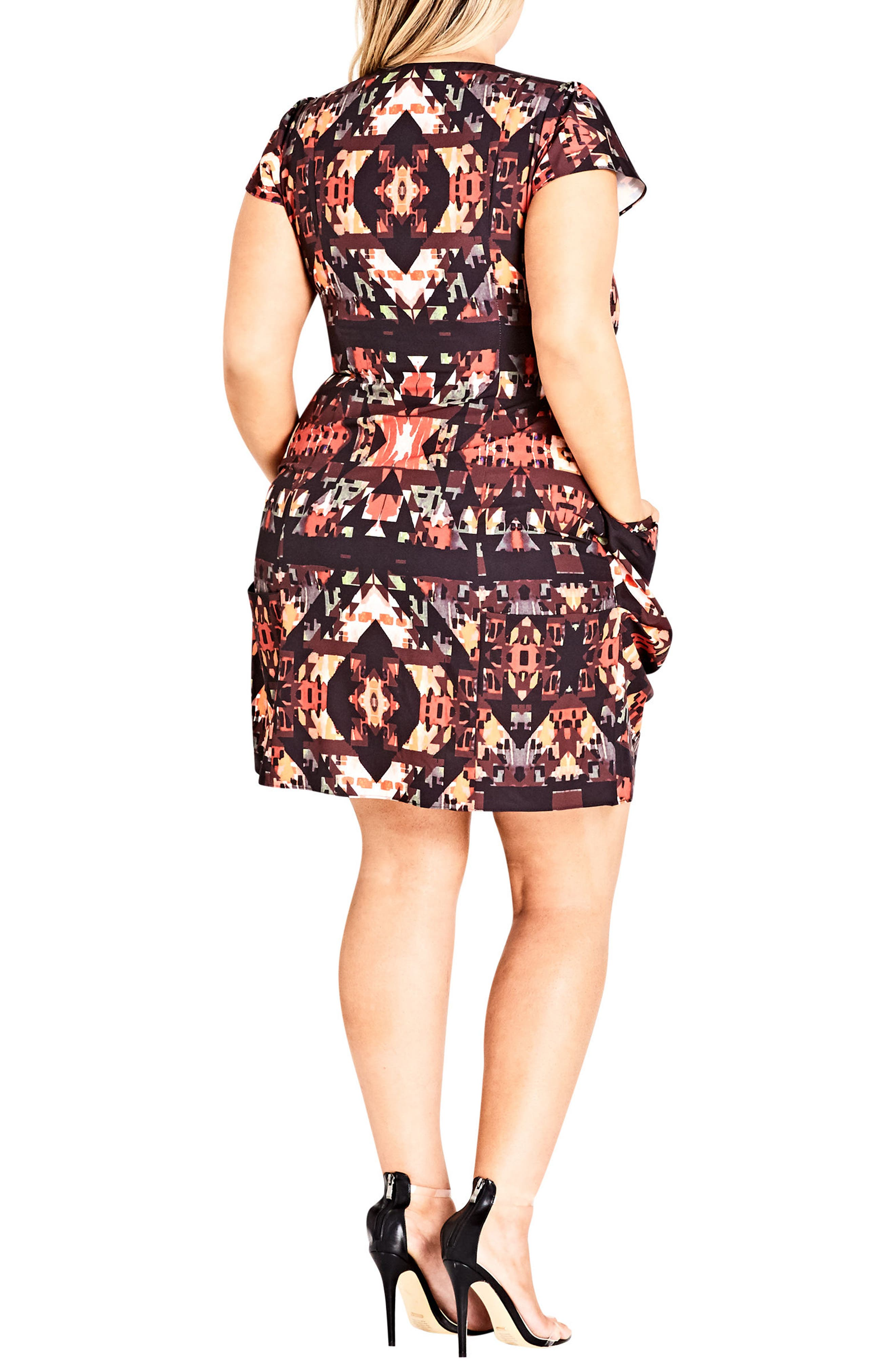 Alternate Image 2  - City Chic Geo Print Tunic Dress (Plus Size)