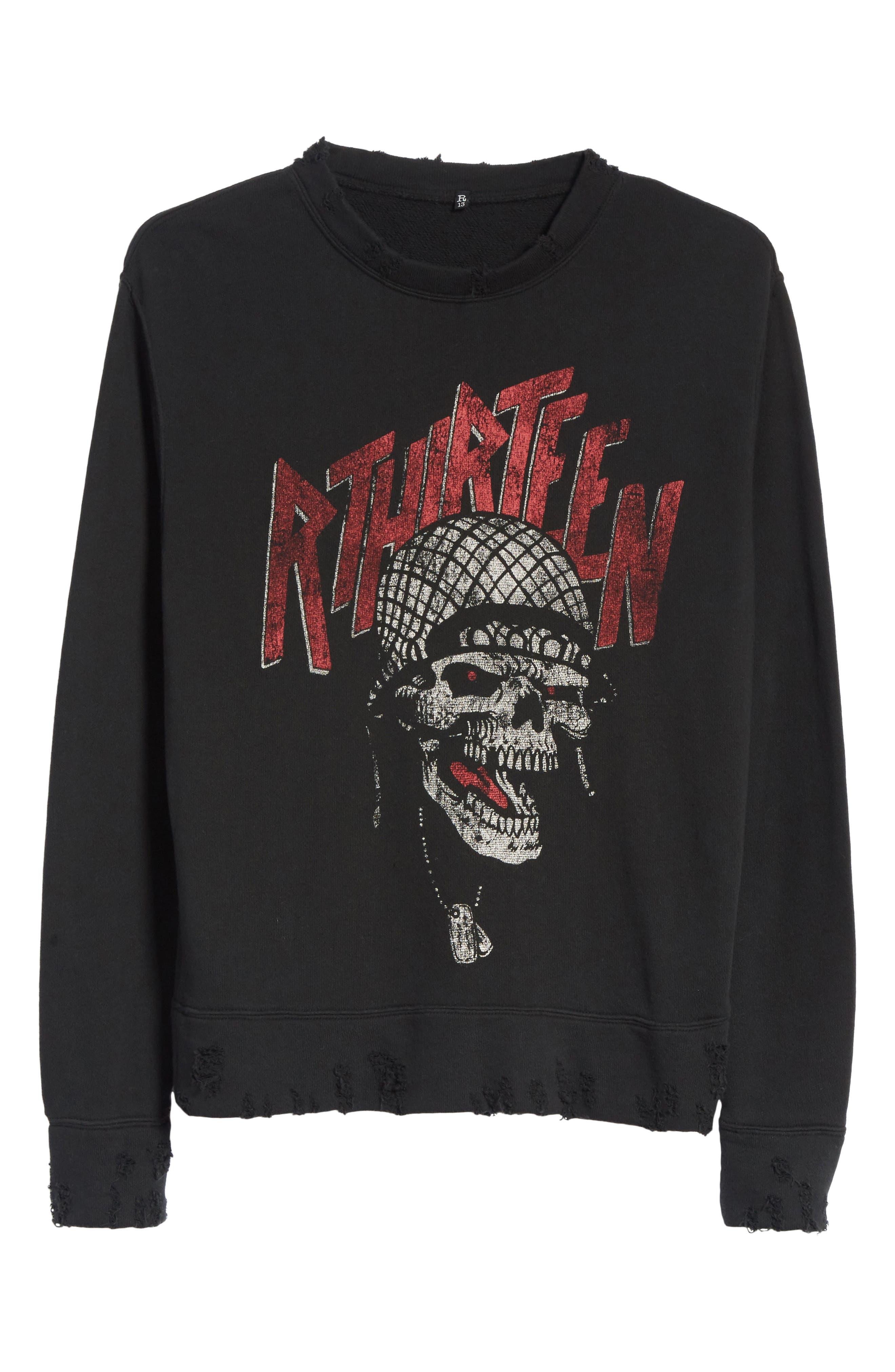 Battle Punk Graphic Sweatshirt,                             Alternate thumbnail 6, color,                             Black